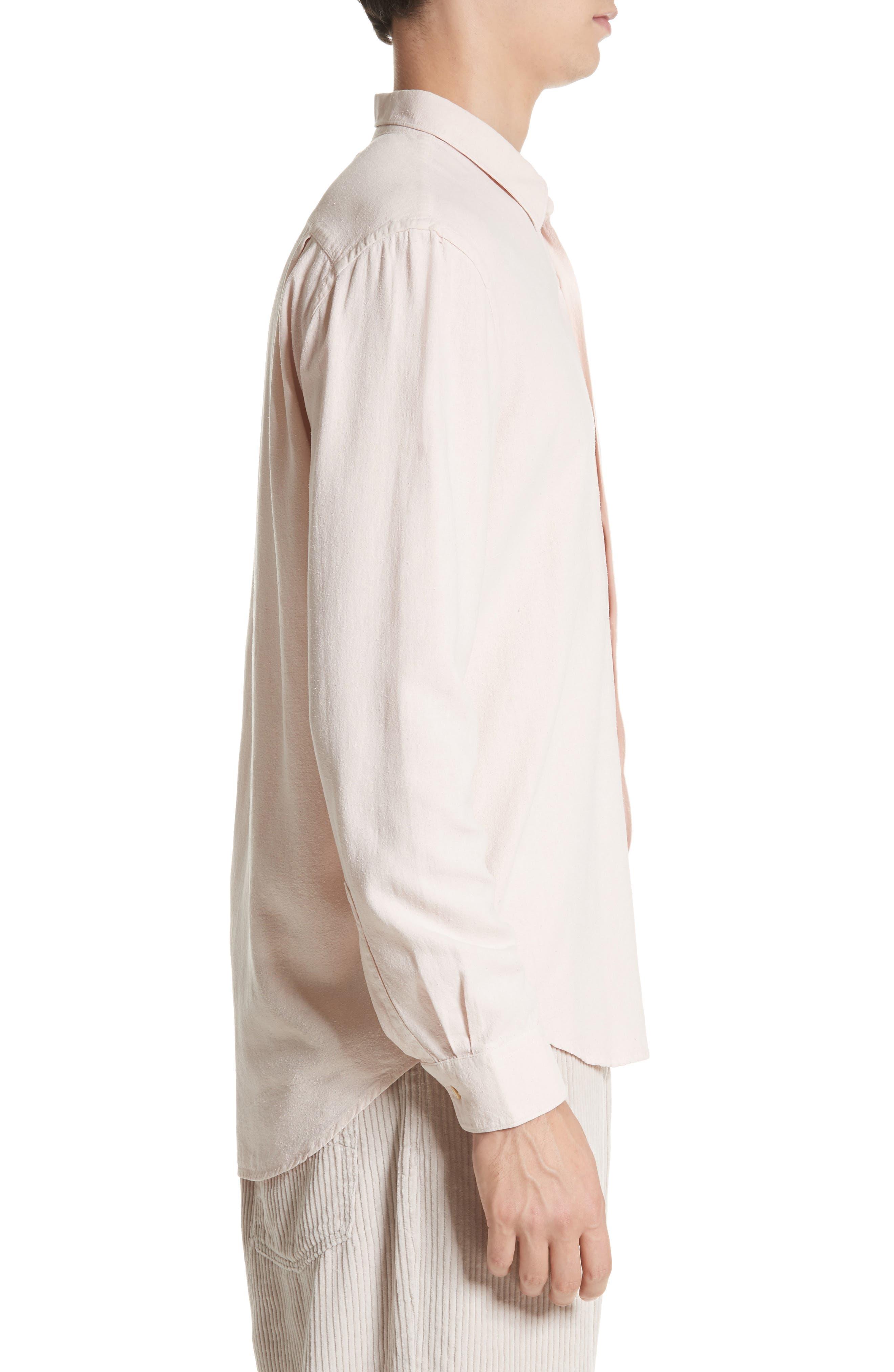 Classic Silk Shirt,                             Alternate thumbnail 3, color,                             650