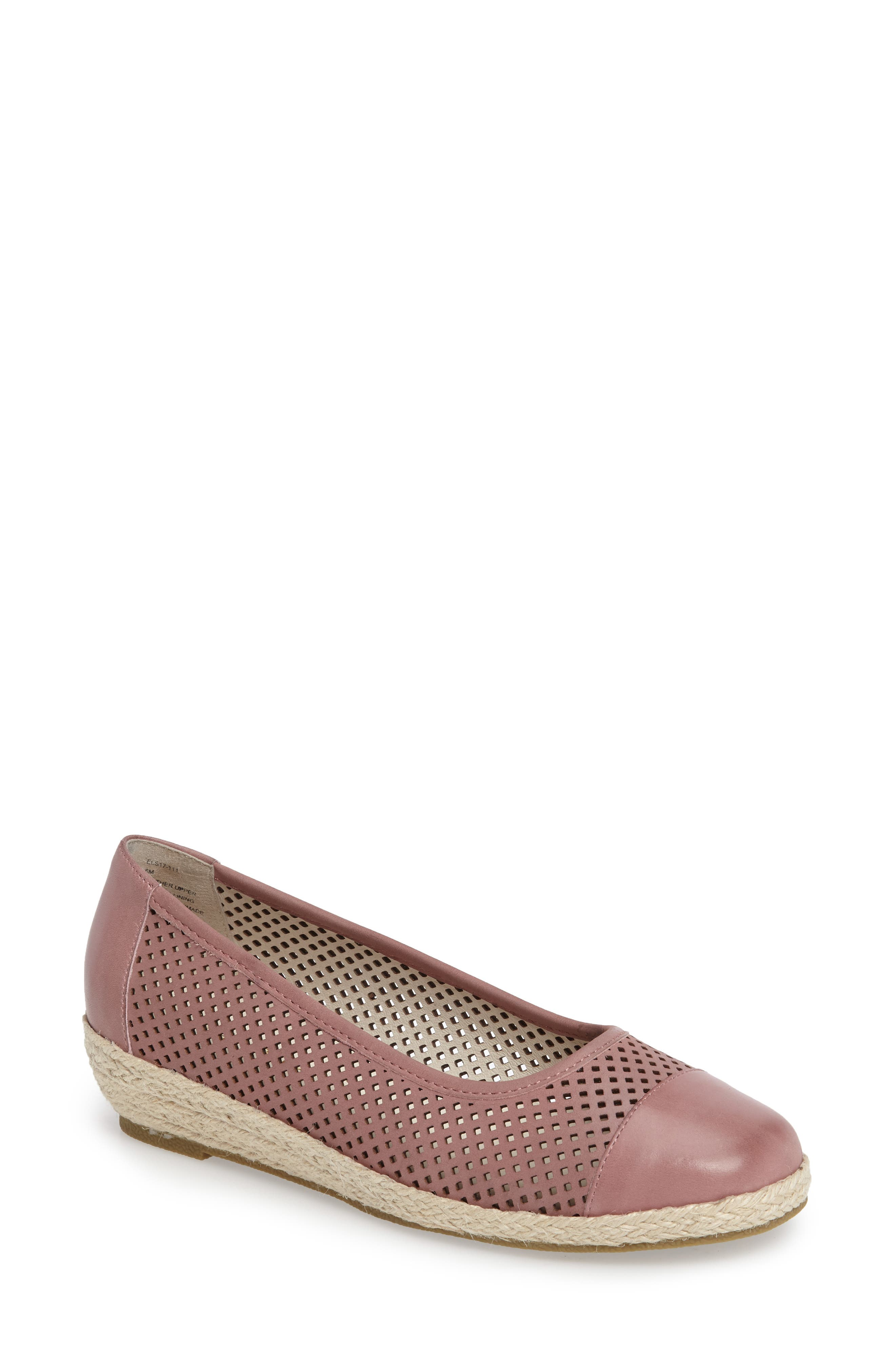 Nadine Perforated Espadrille Wedge,                             Main thumbnail 5, color,