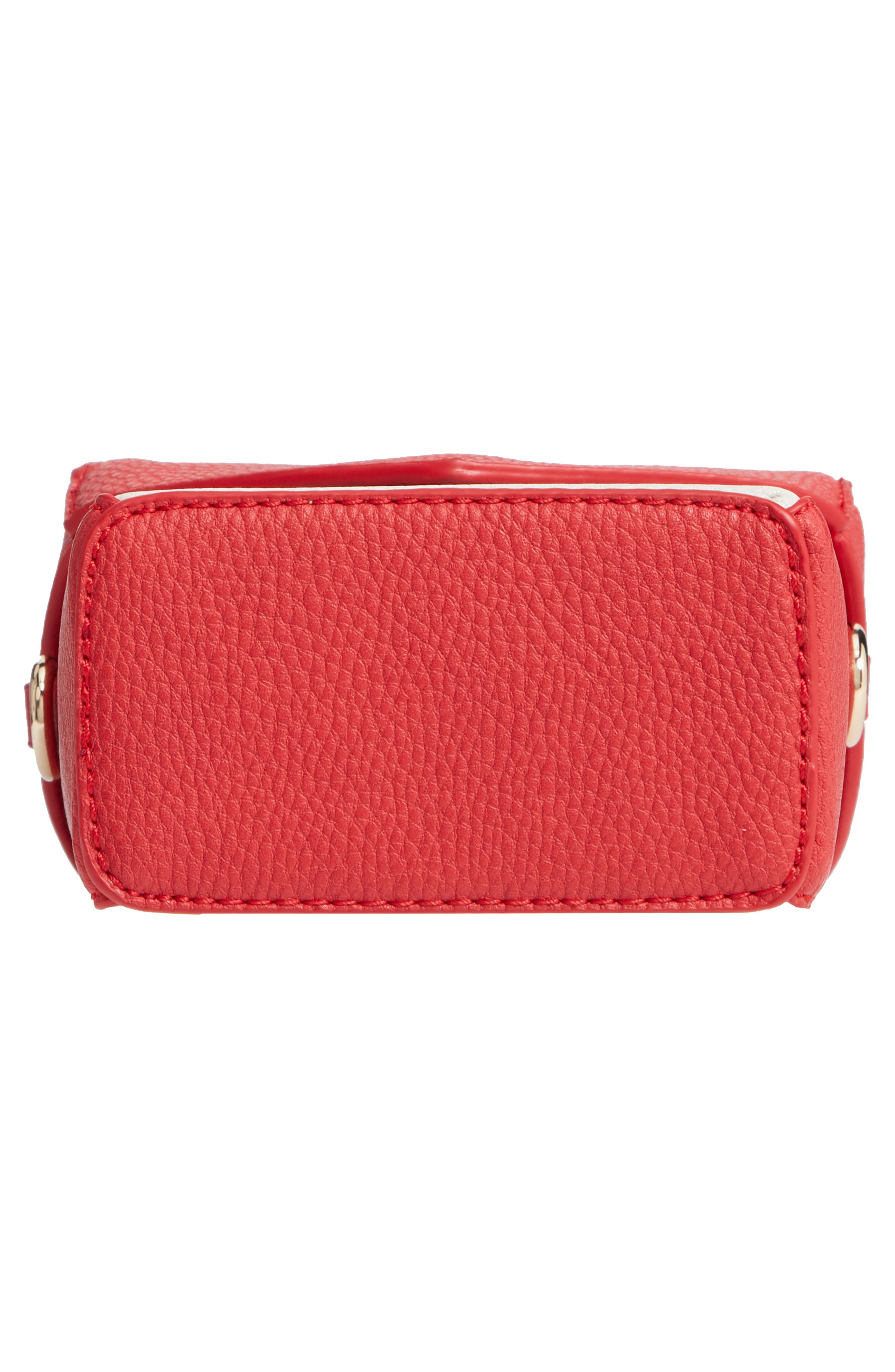 JULES KAE,                             Tabitha Faux Leather Crossbody Bag,                             Alternate thumbnail 6, color,                             100