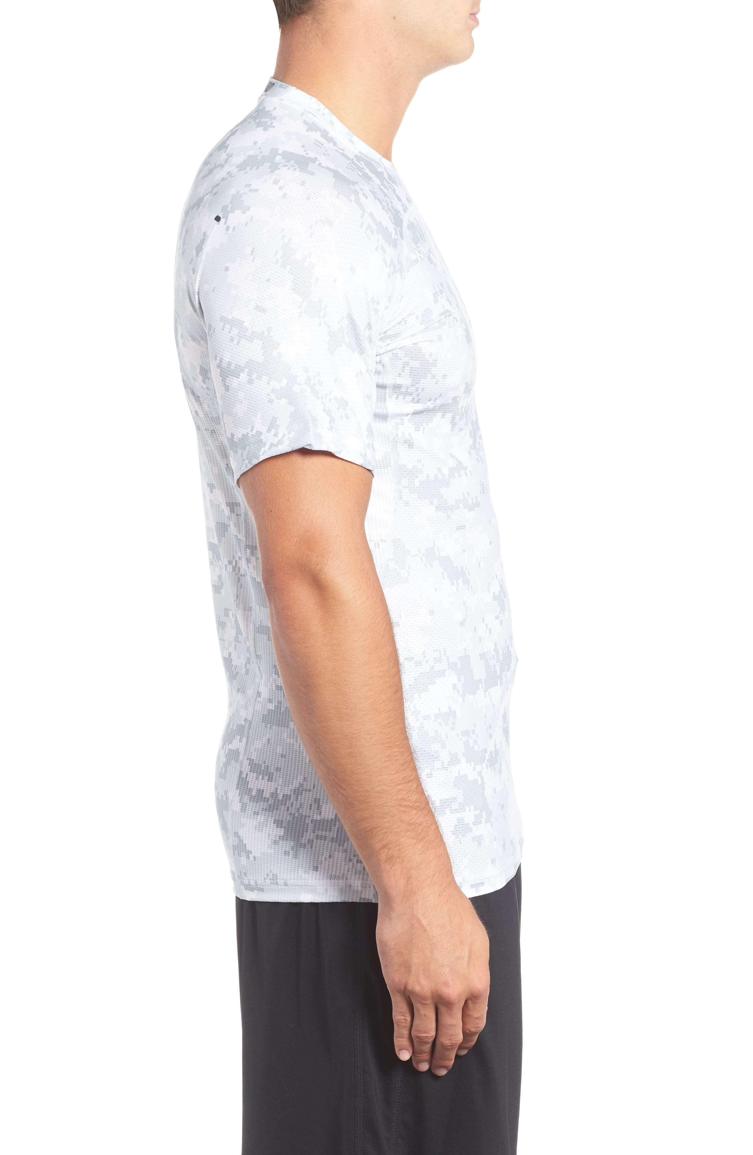 Pro Hypercool Seamless T-Shirt,                             Alternate thumbnail 3, color,                             100