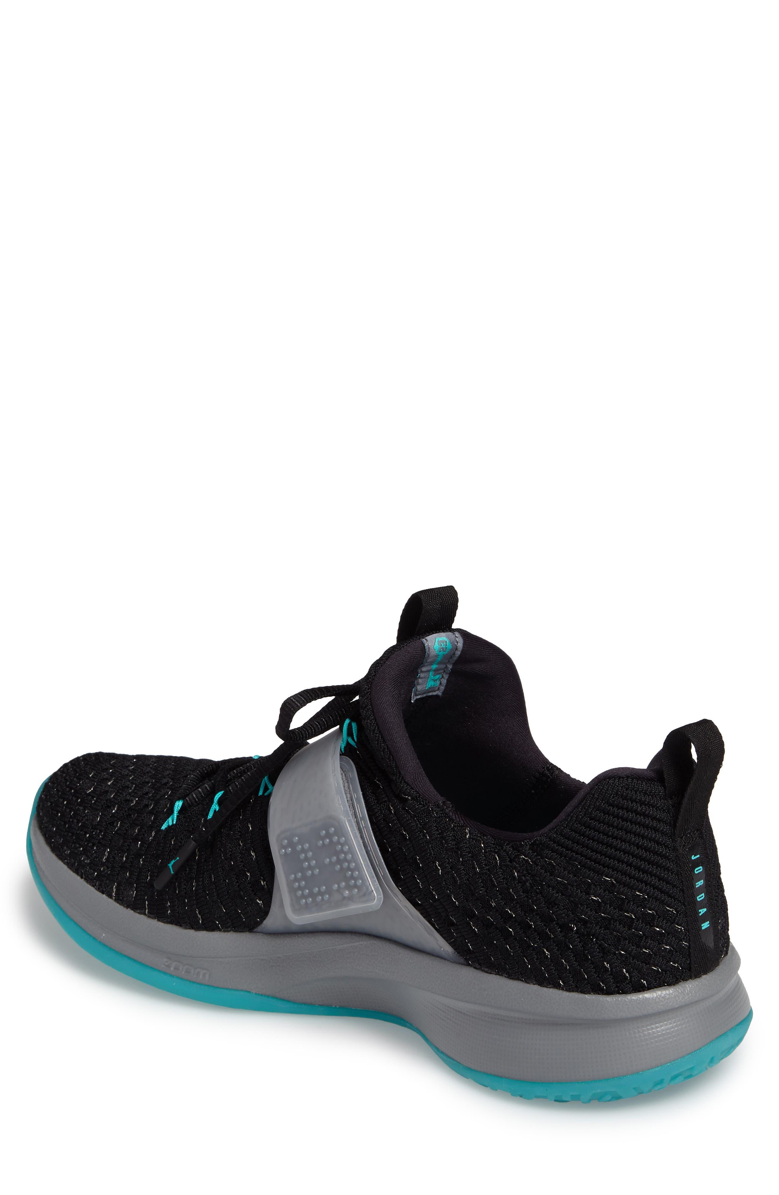 Jordan Flyknit Trainer 2 Low Sneaker,                             Alternate thumbnail 8, color,