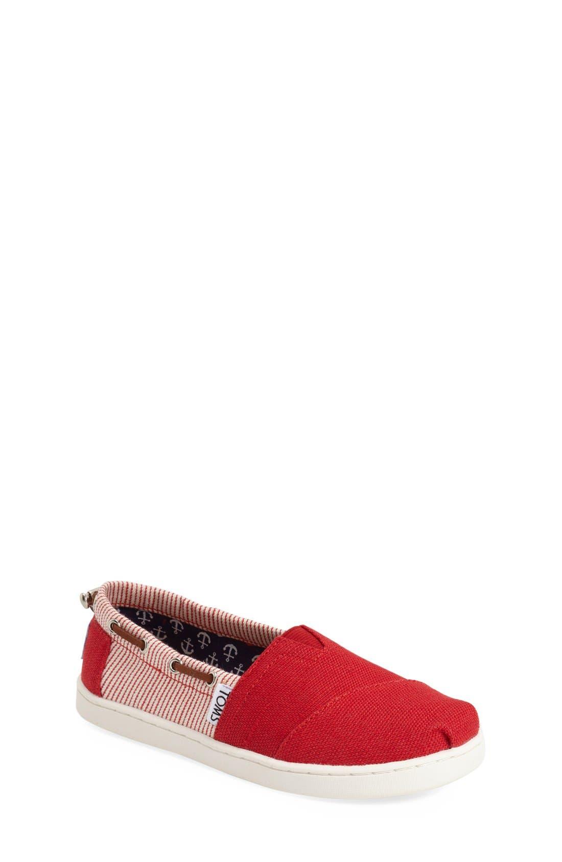 'Bimini' Print Slip-On,                             Main thumbnail 1, color,                             MEDIUM RED