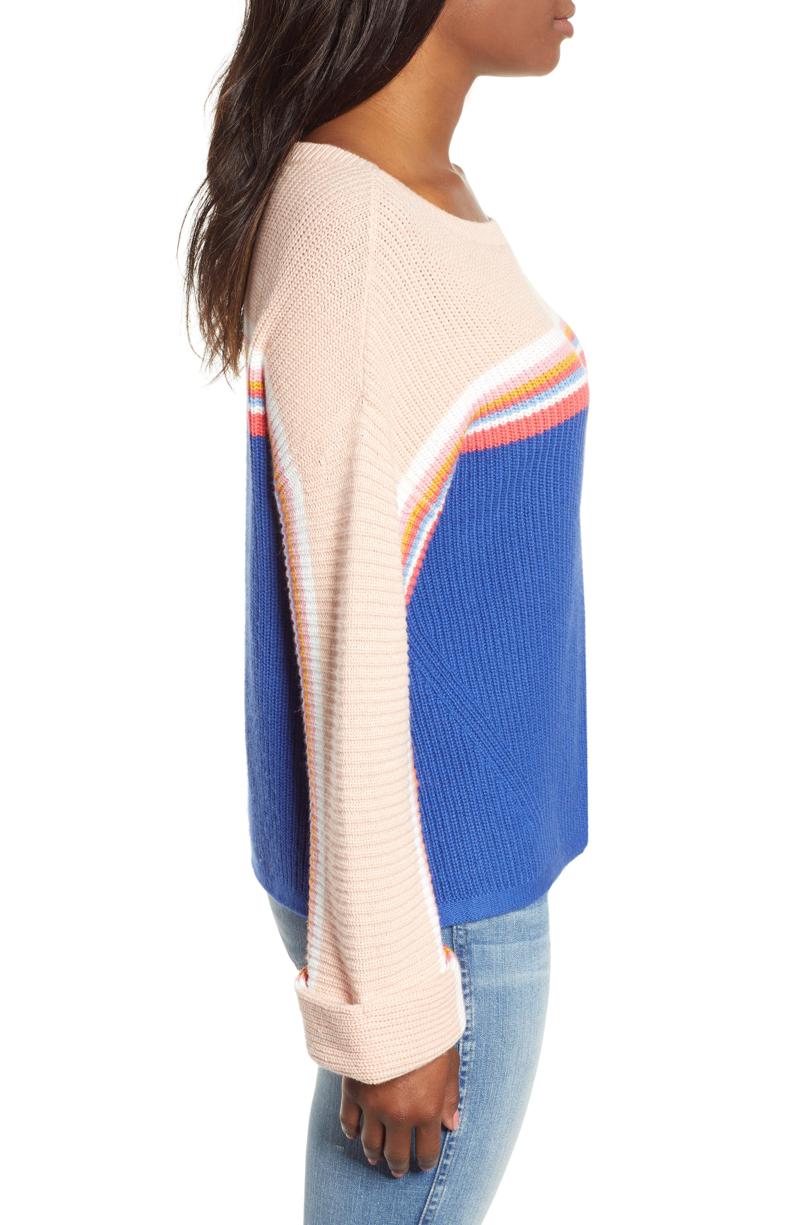 CASLON<SUP>®</SUP>,                             Shaker Stitch Sweater,                             Alternate thumbnail 3, color,                             401