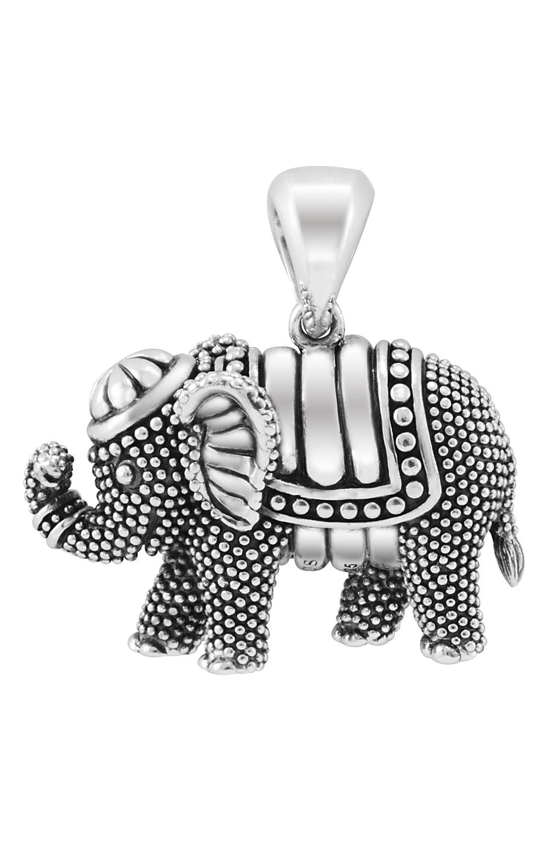 LAGOS,                             Rare Wonders Long Talisman Necklace,                             Main thumbnail 1, color,                             SILVER/ ELEPHANT