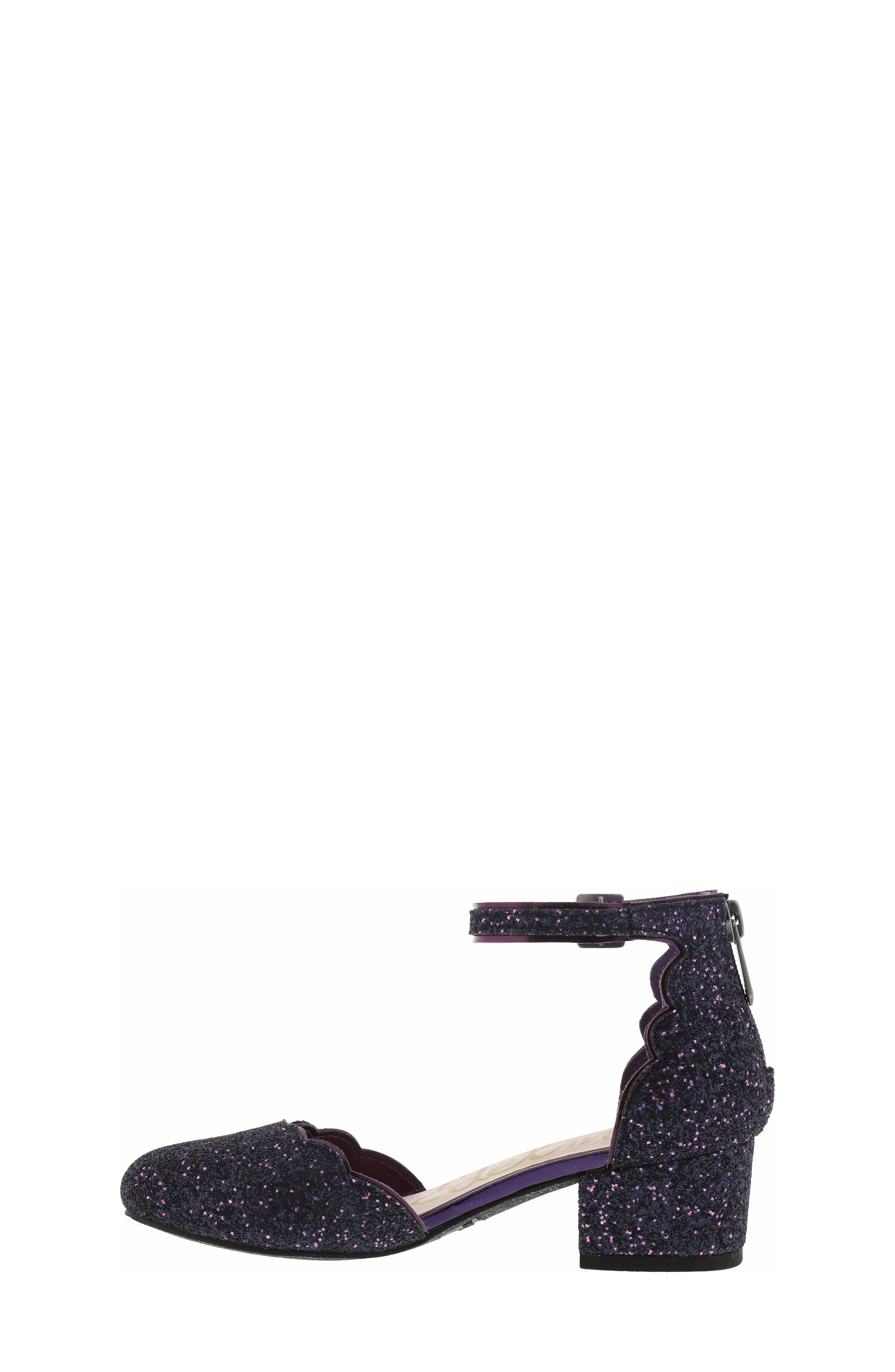 Evelyn Inara Glitter Ankle Strap Pump,                             Alternate thumbnail 7, color,                             PURPLE MULTI