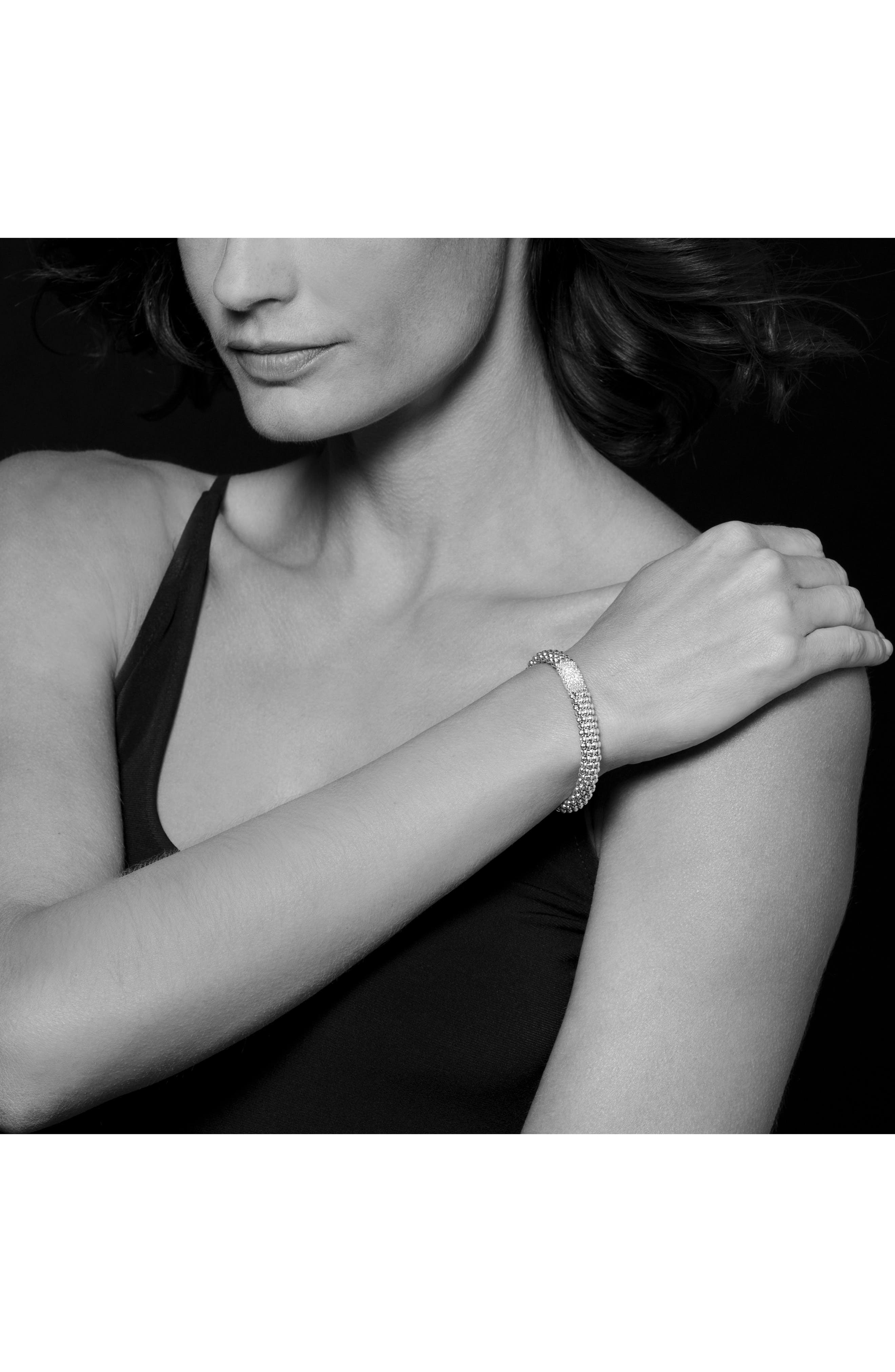 Diamond Lux Pavé Station Rope Bracelet,                             Alternate thumbnail 5, color,                             DIAMOND