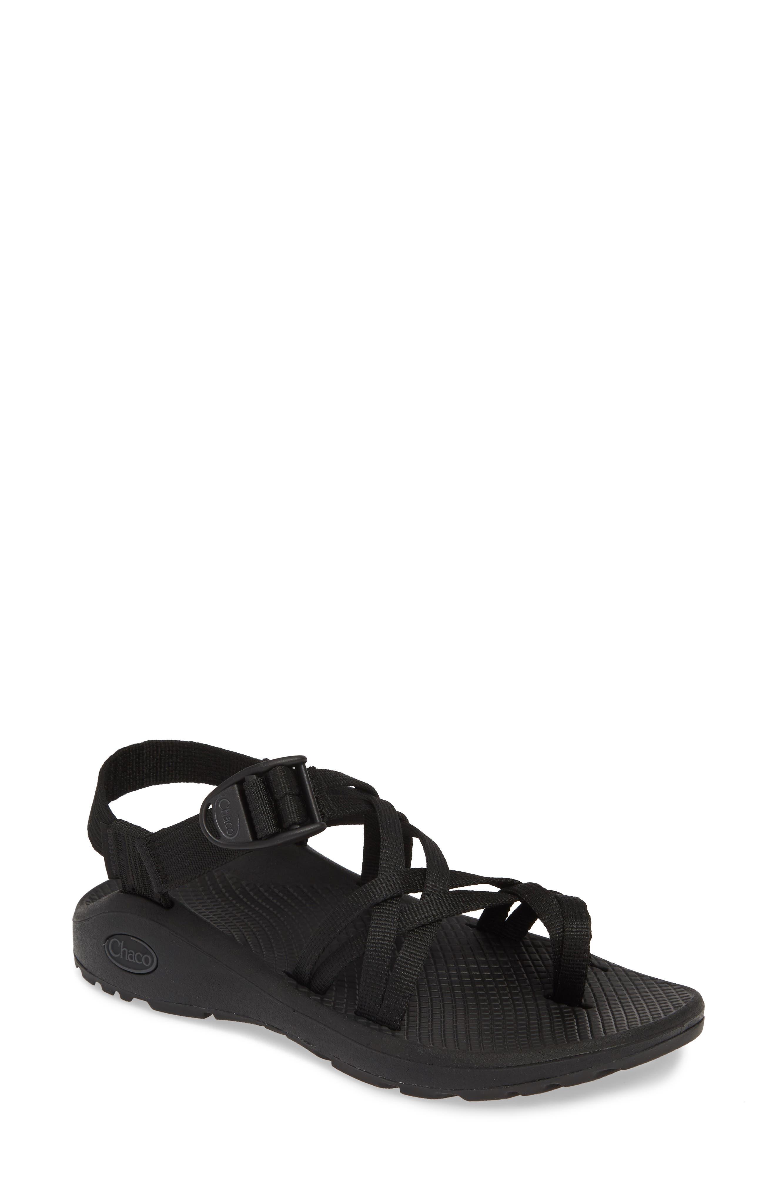 CHACO,                             Z/Cloud X2 Sandal,                             Main thumbnail 1, color,                             SOLID BLACK FABRIC