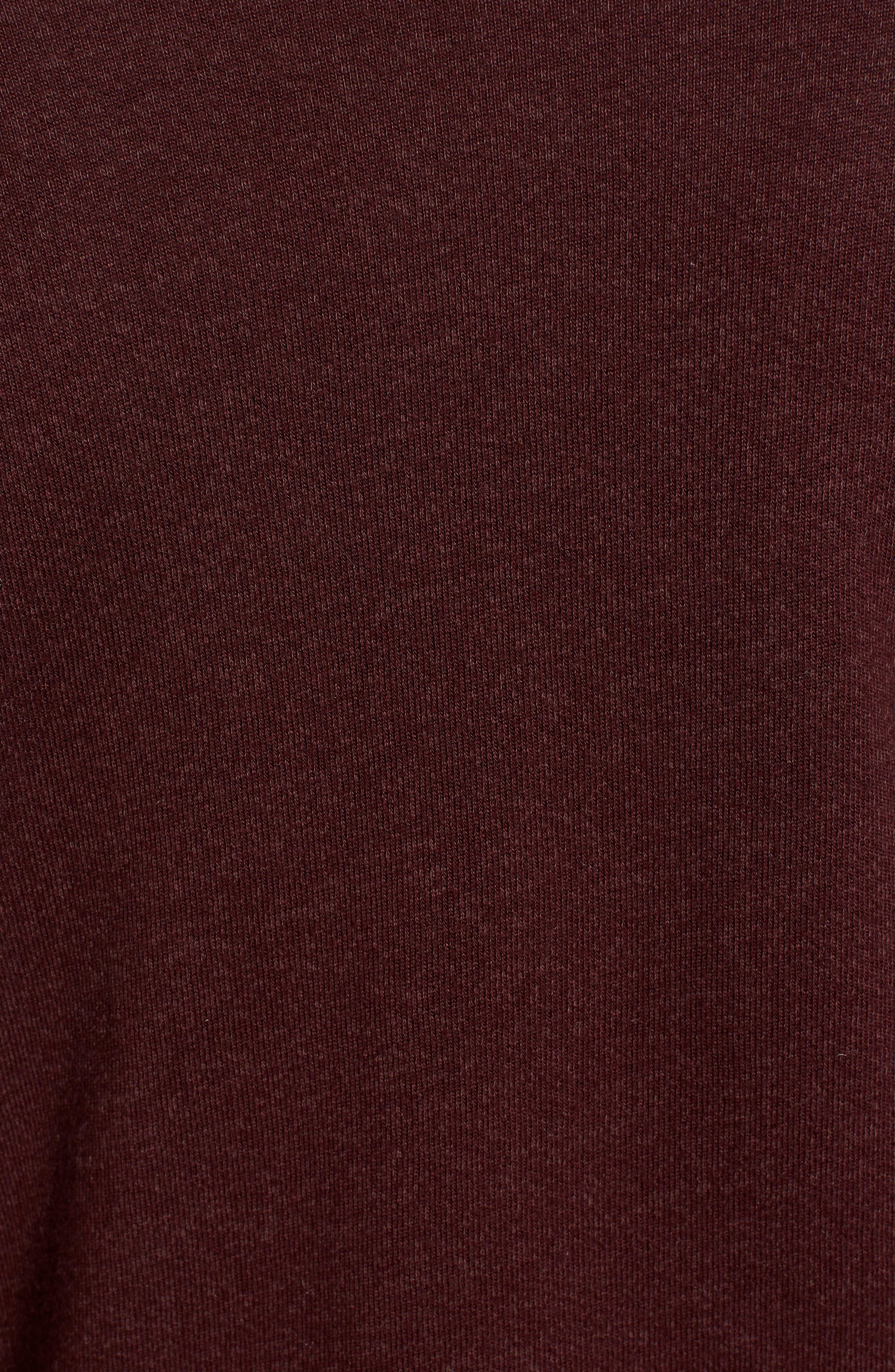 Sedro Arm Cutout Sweatshirt,                             Alternate thumbnail 5, color,                             WINETASTING