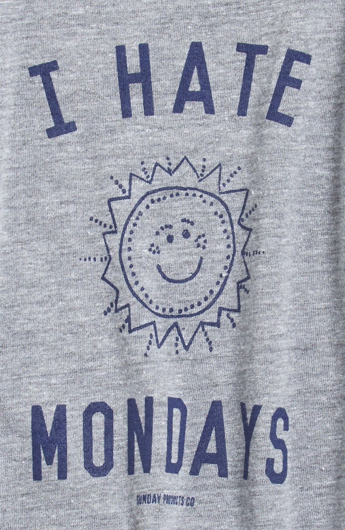 'I Hate Mondays' Graphic T-Shirt,                             Alternate thumbnail 2, color,                             020