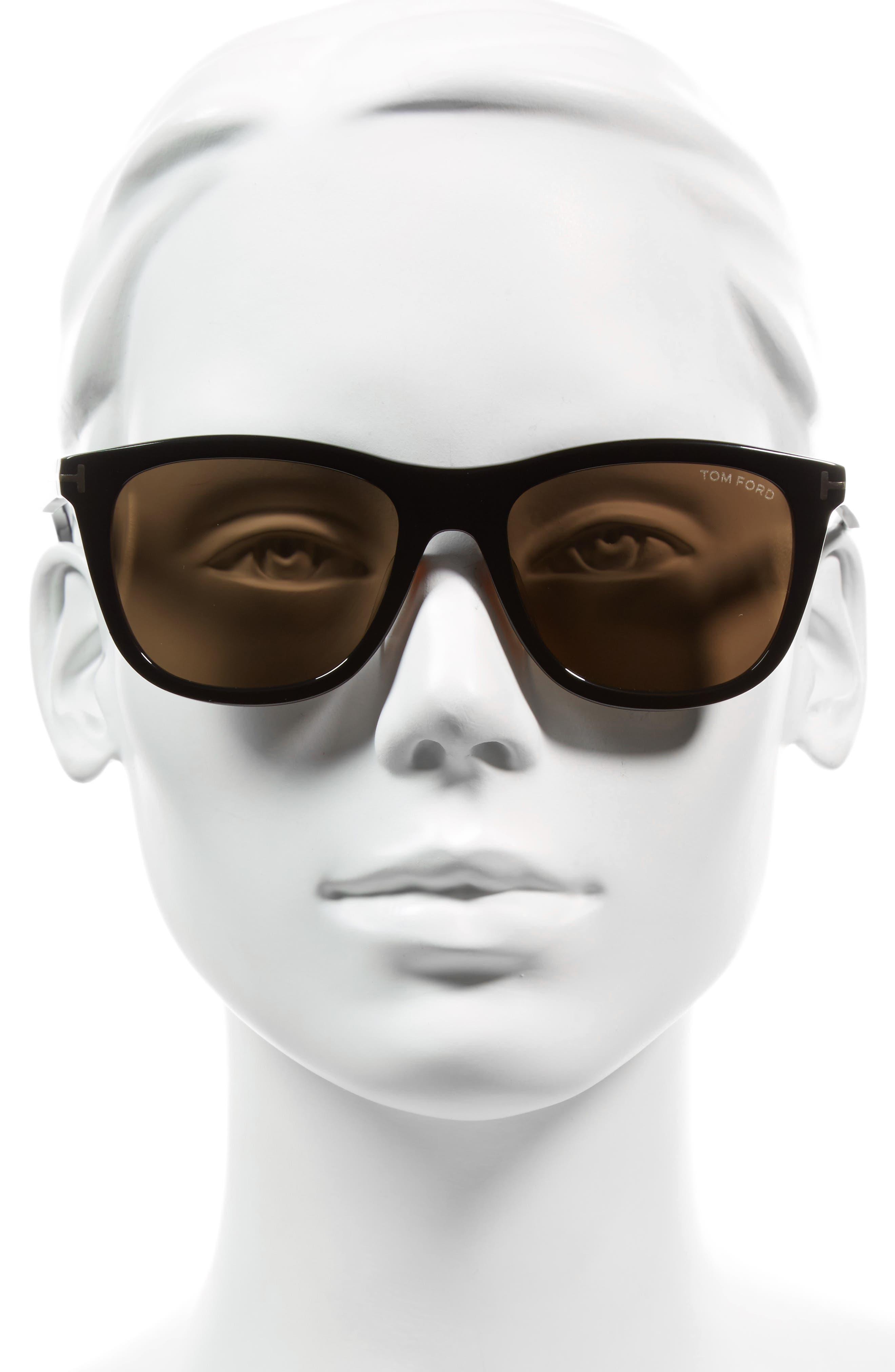 Andrew 54mm Rectangular Sunglasses,                             Alternate thumbnail 2, color,                             001