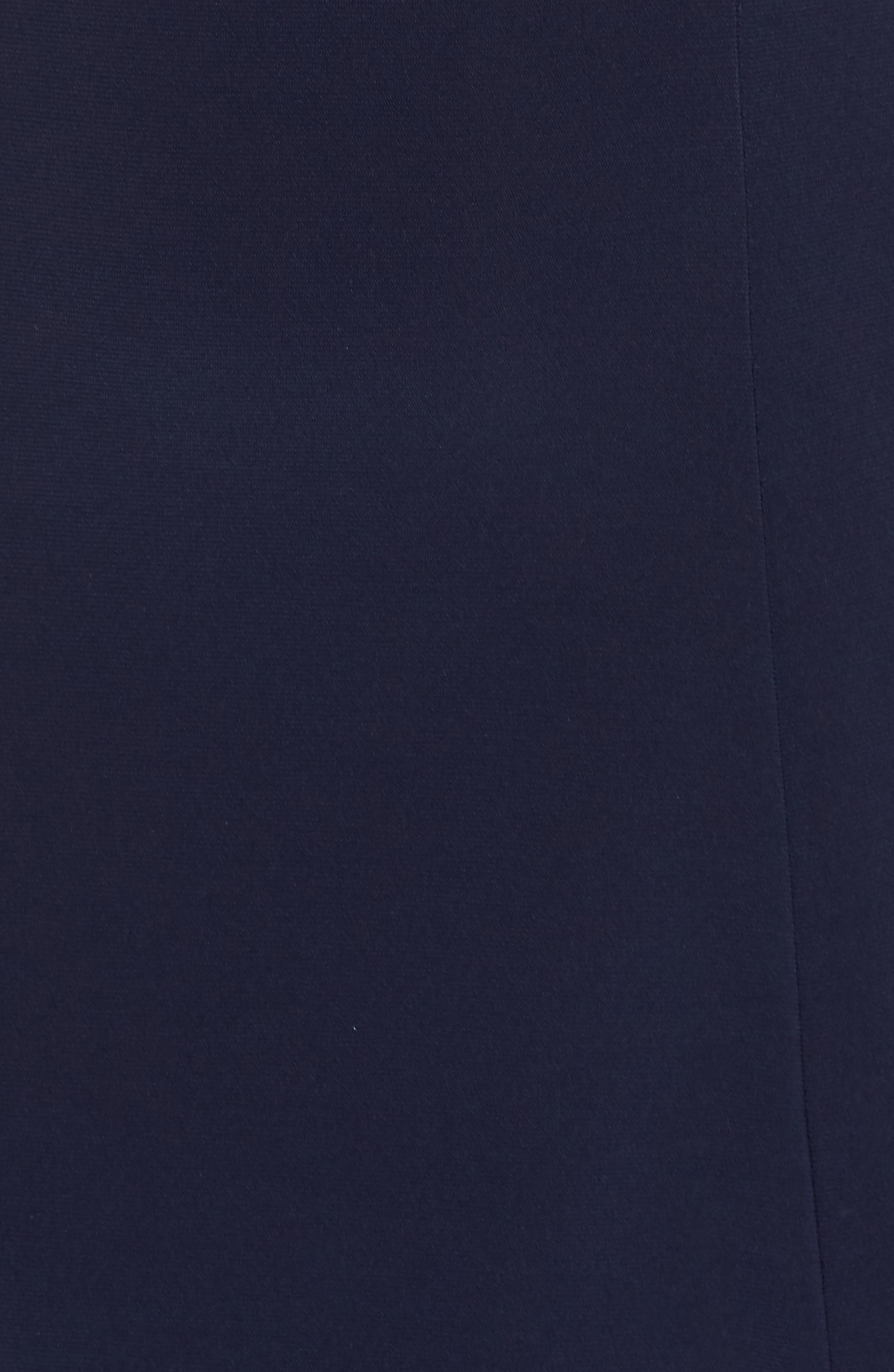 Deep V-Neck Skater Dress,                             Alternate thumbnail 6, color,                             NAVY/ NUDE/ SILVER