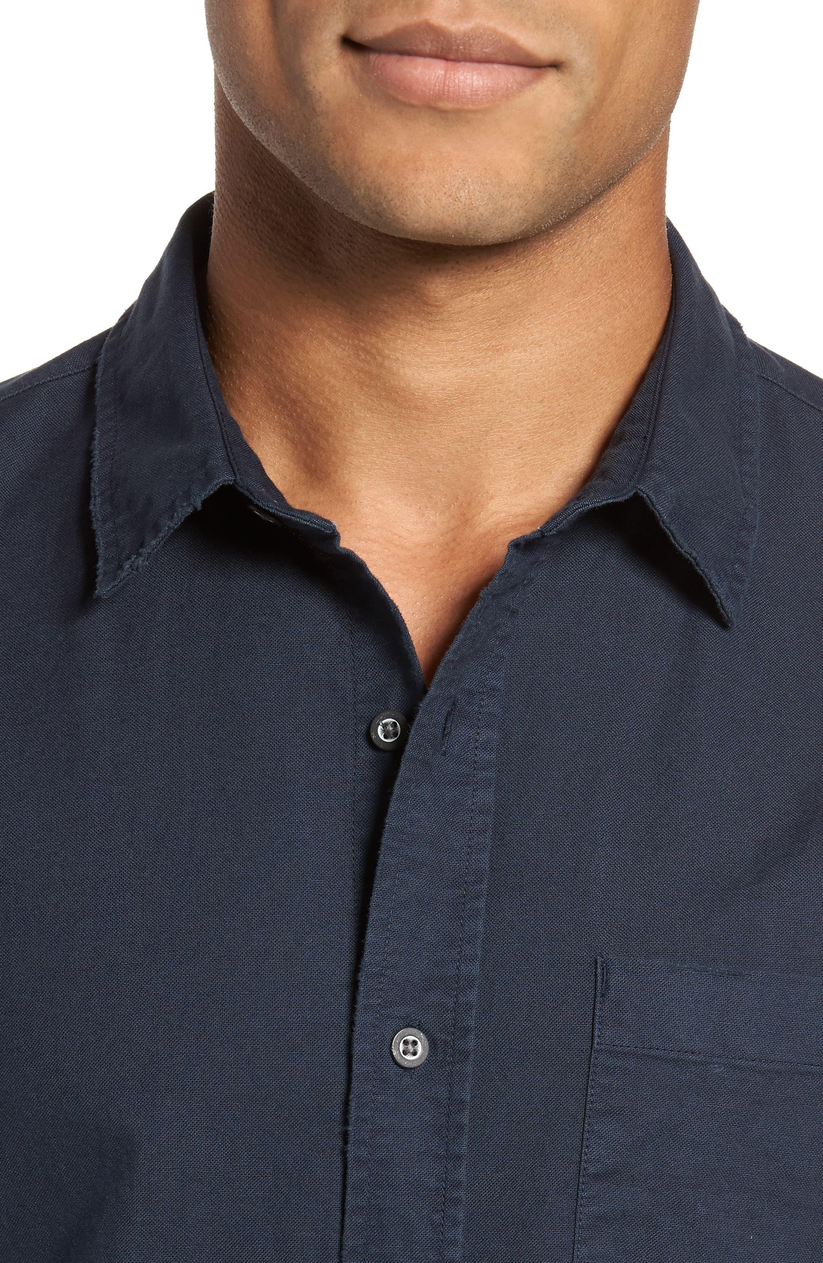 Caleb Slim Fit Twill Sport Shirt,                             Alternate thumbnail 8, color,