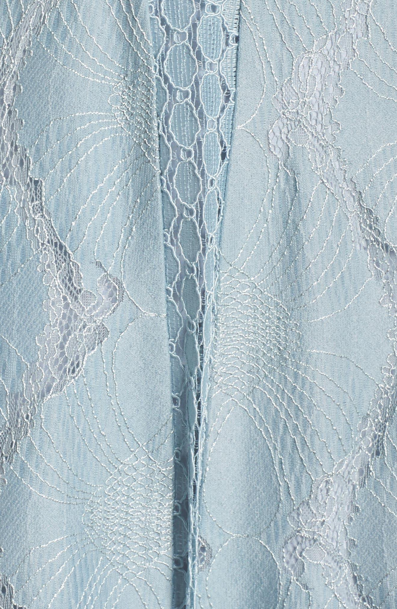 Theodora Lace Midi Dress,                             Alternate thumbnail 5, color,                             BLUEBELL