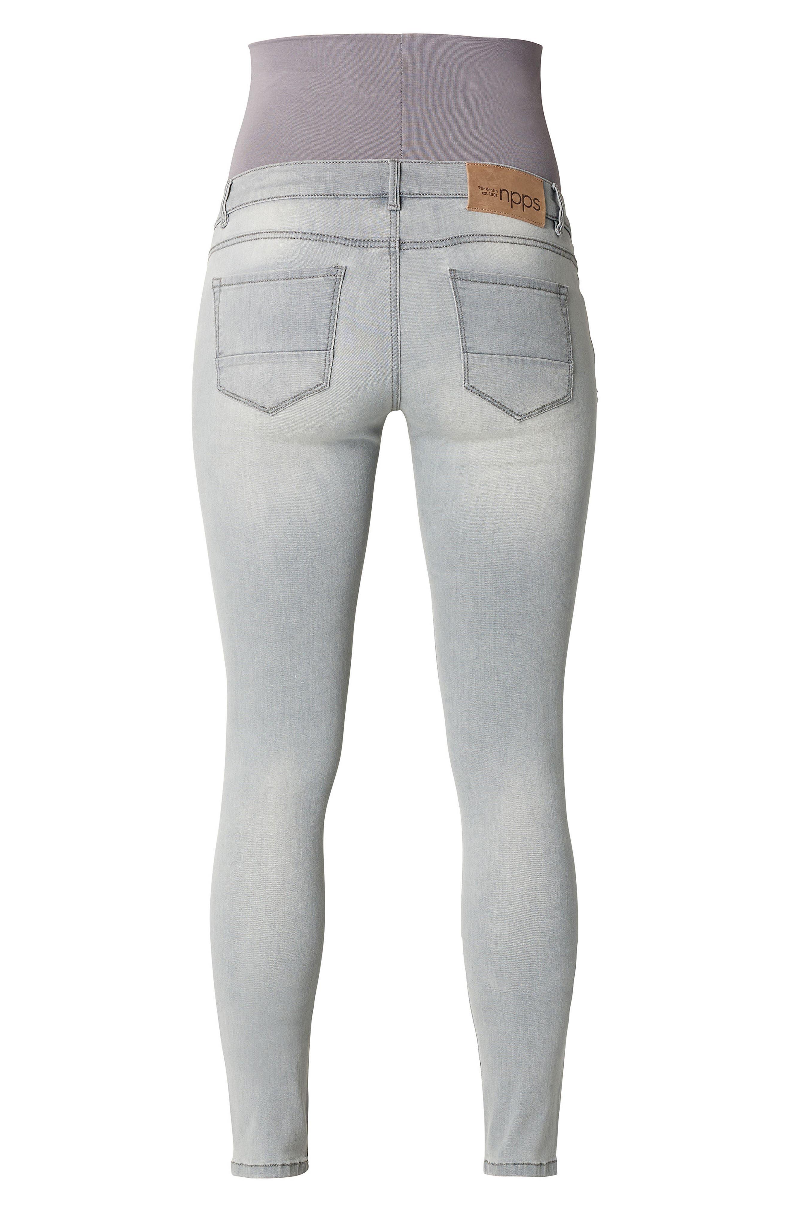 Iva Skinny Maternity Jeans,                             Alternate thumbnail 2, color,                             GREY