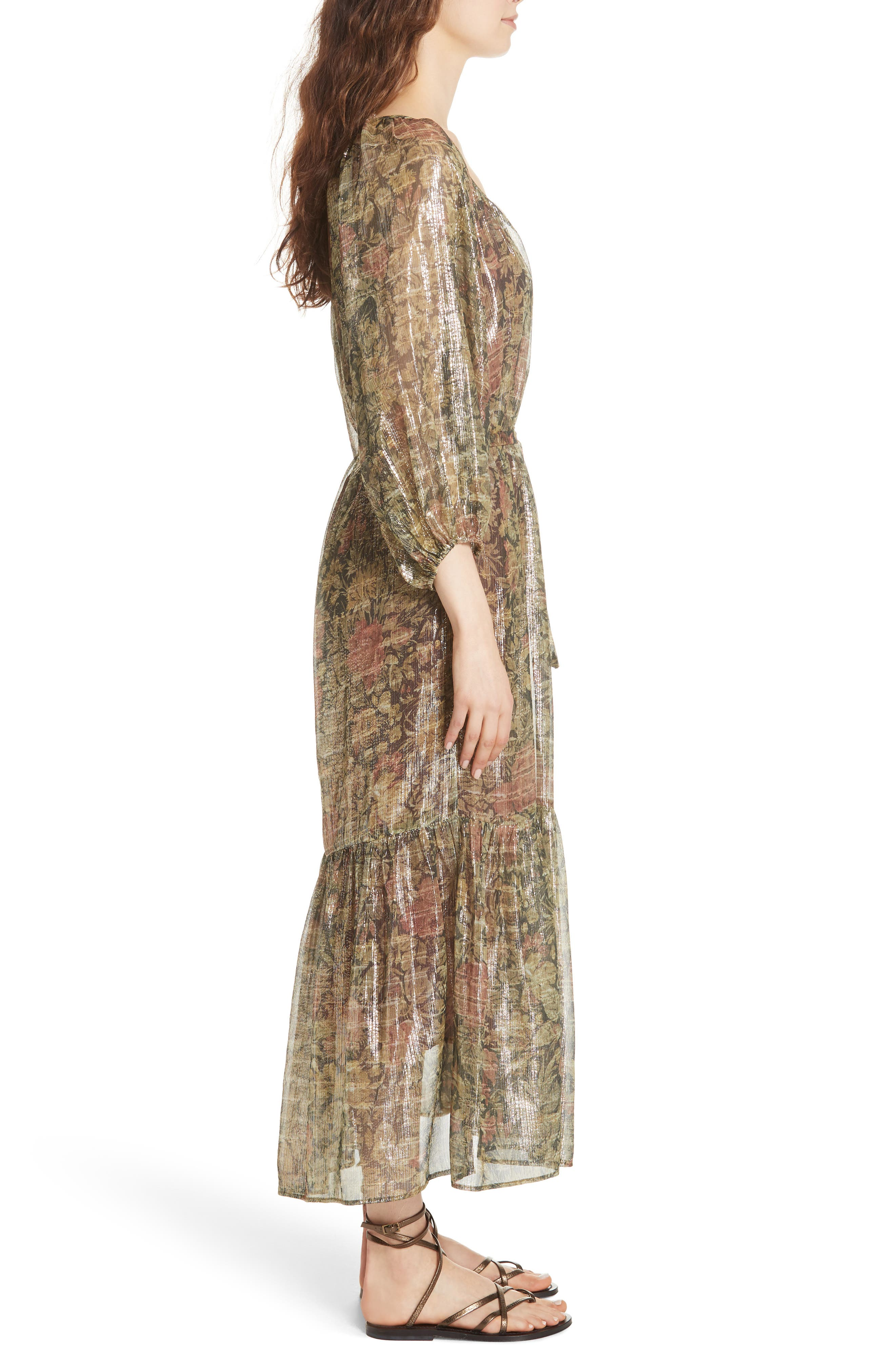 Print Dress,                             Alternate thumbnail 3, color,                             391