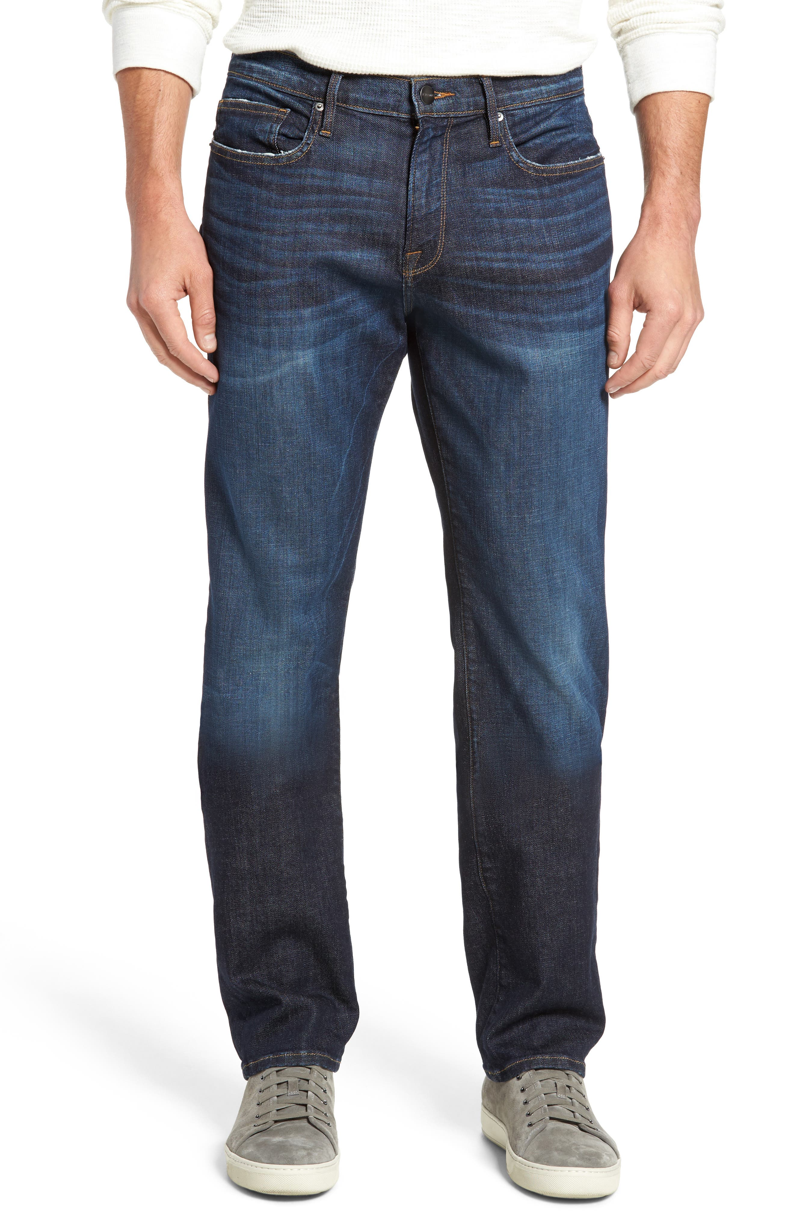L'Homme Slim Straight Leg Jeans,                         Main,                         color, 401