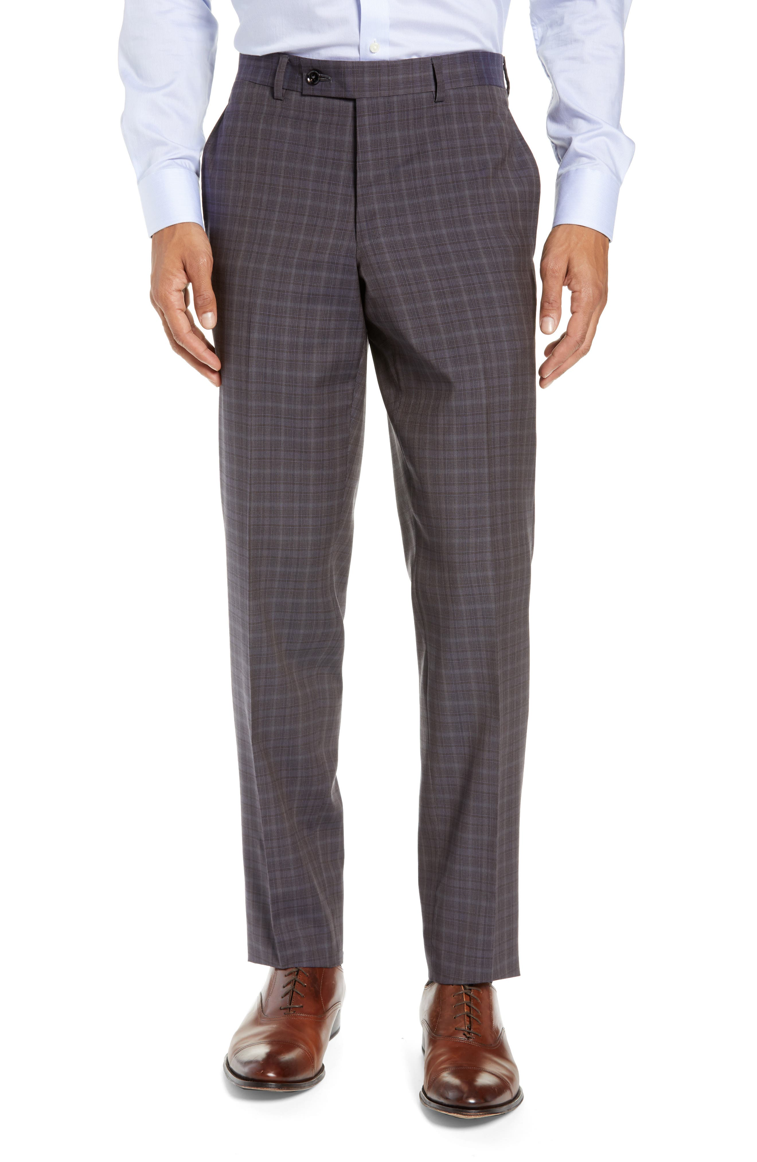 TED BAKER LONDON,                             Jay Trim Fit Plaid Wool Suit,                             Alternate thumbnail 6, color,                             TAUPE