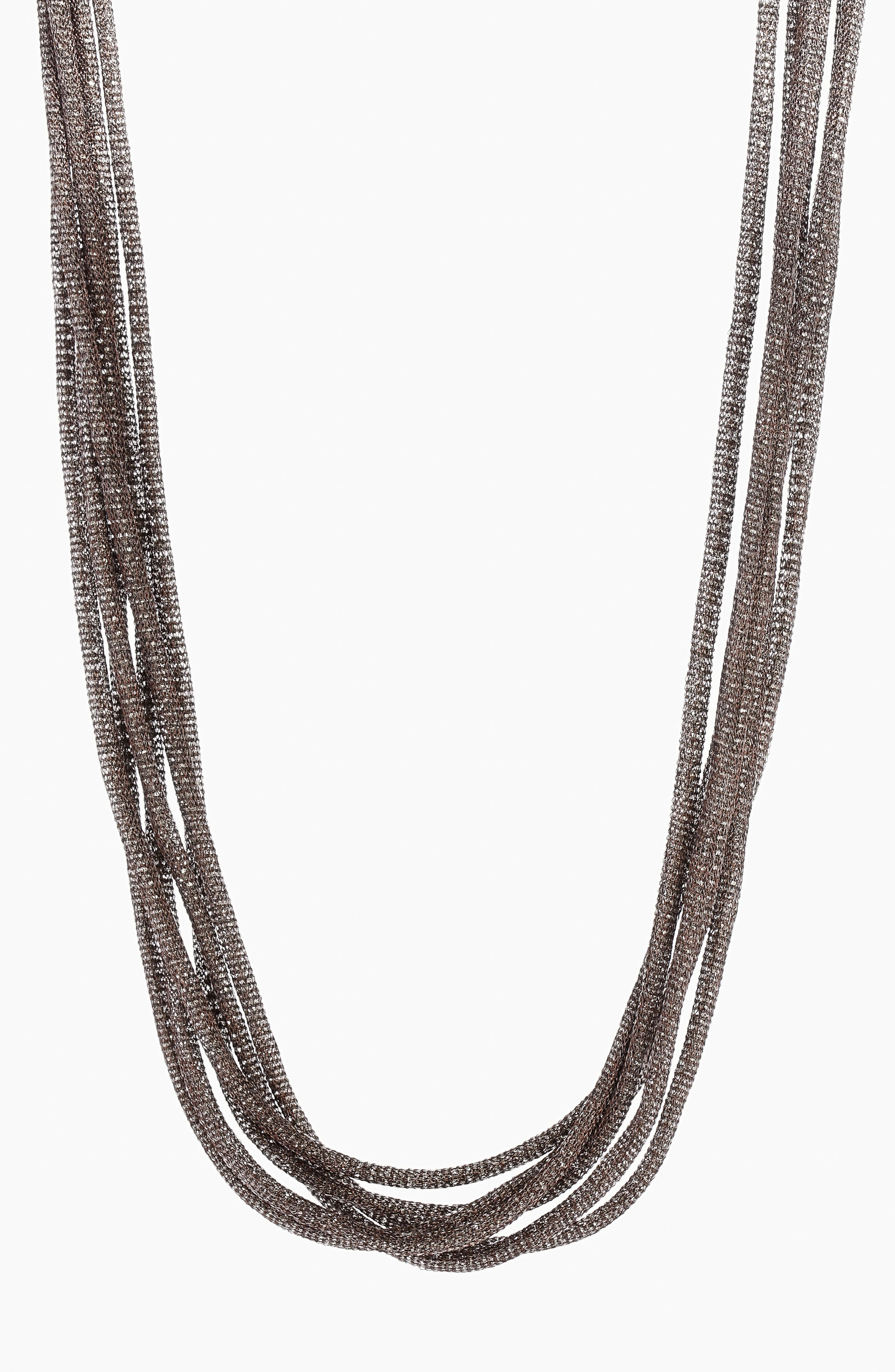 Mesh Chain Multistrand Necklace,                             Main thumbnail 1, color,                             072