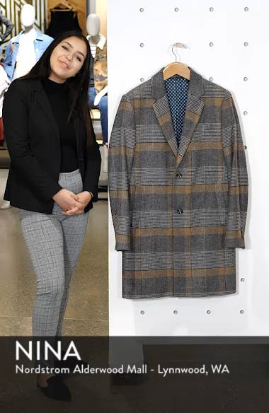 Frais Check Wool Overcoat, sales video thumbnail