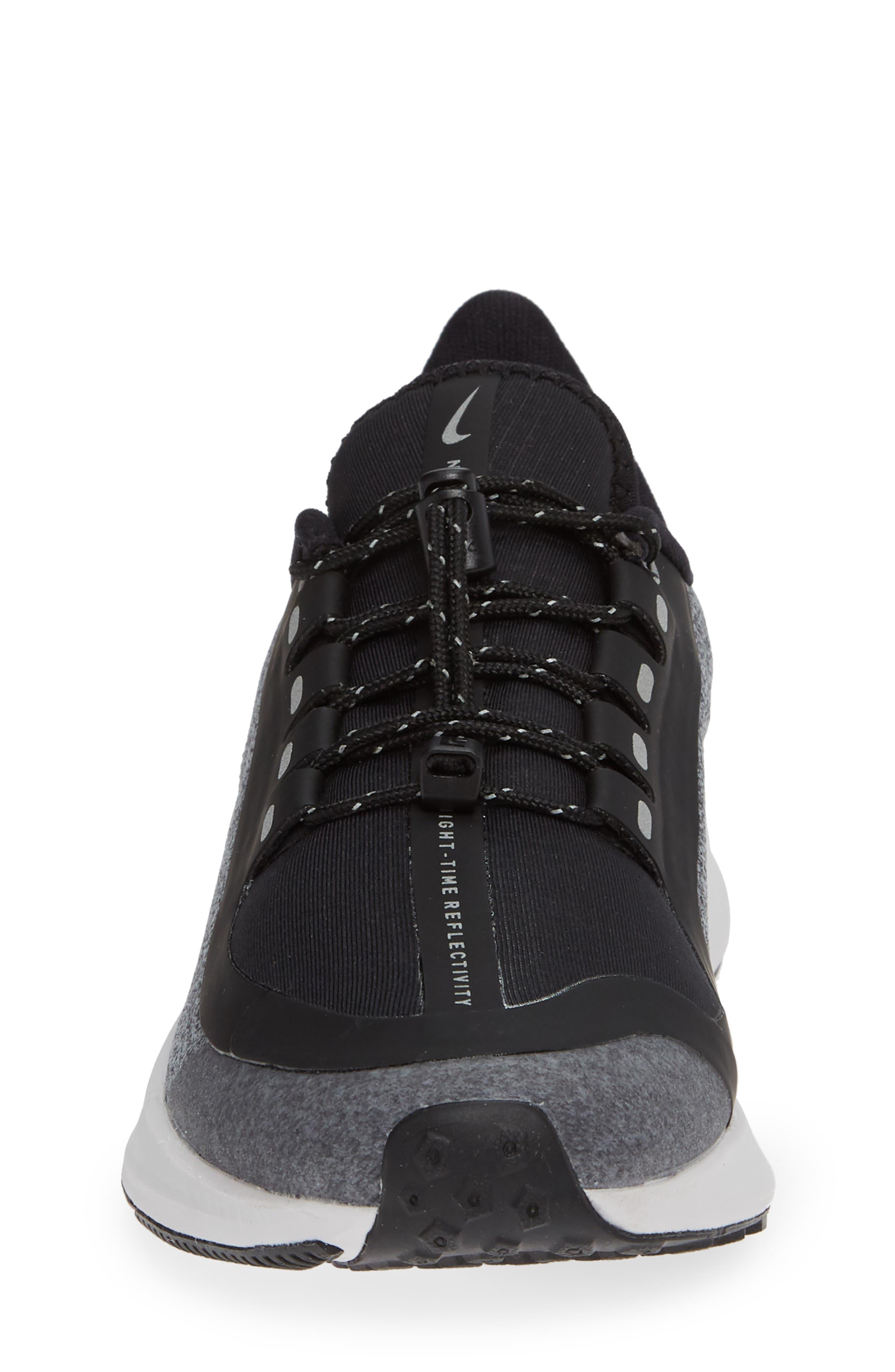 Air Zoom Pegasus 35 Shield GS Water Repellent Running Shoe,                             Alternate thumbnail 4, color,                             BLACK
