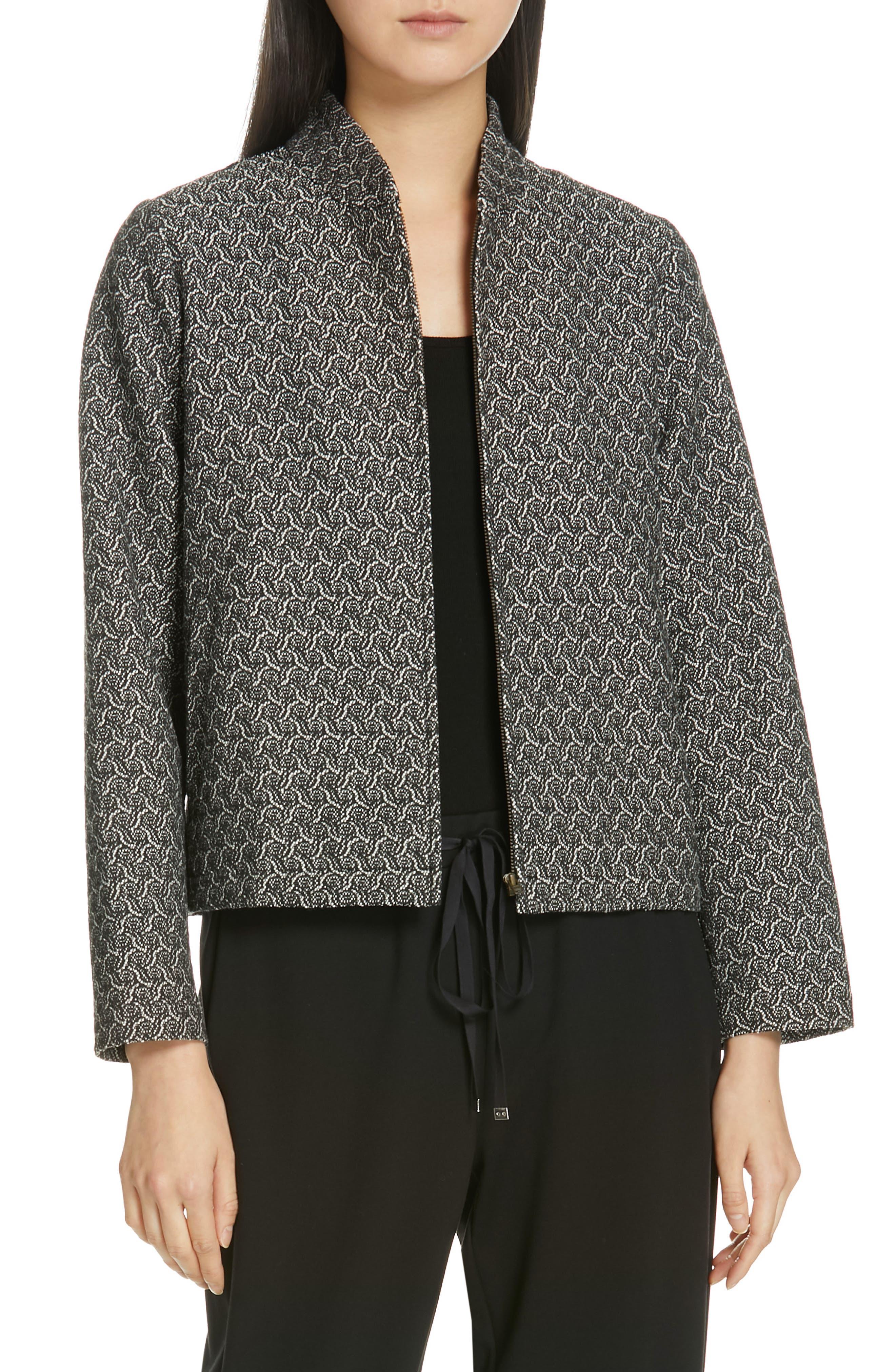 women's eileen fisher jacquard jacket
