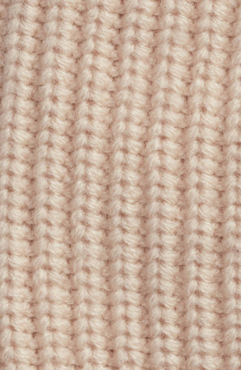 7b1905c9a55 Shop Allsaints Half Cardigan Stitch Beanie - Pink In Nude Pink