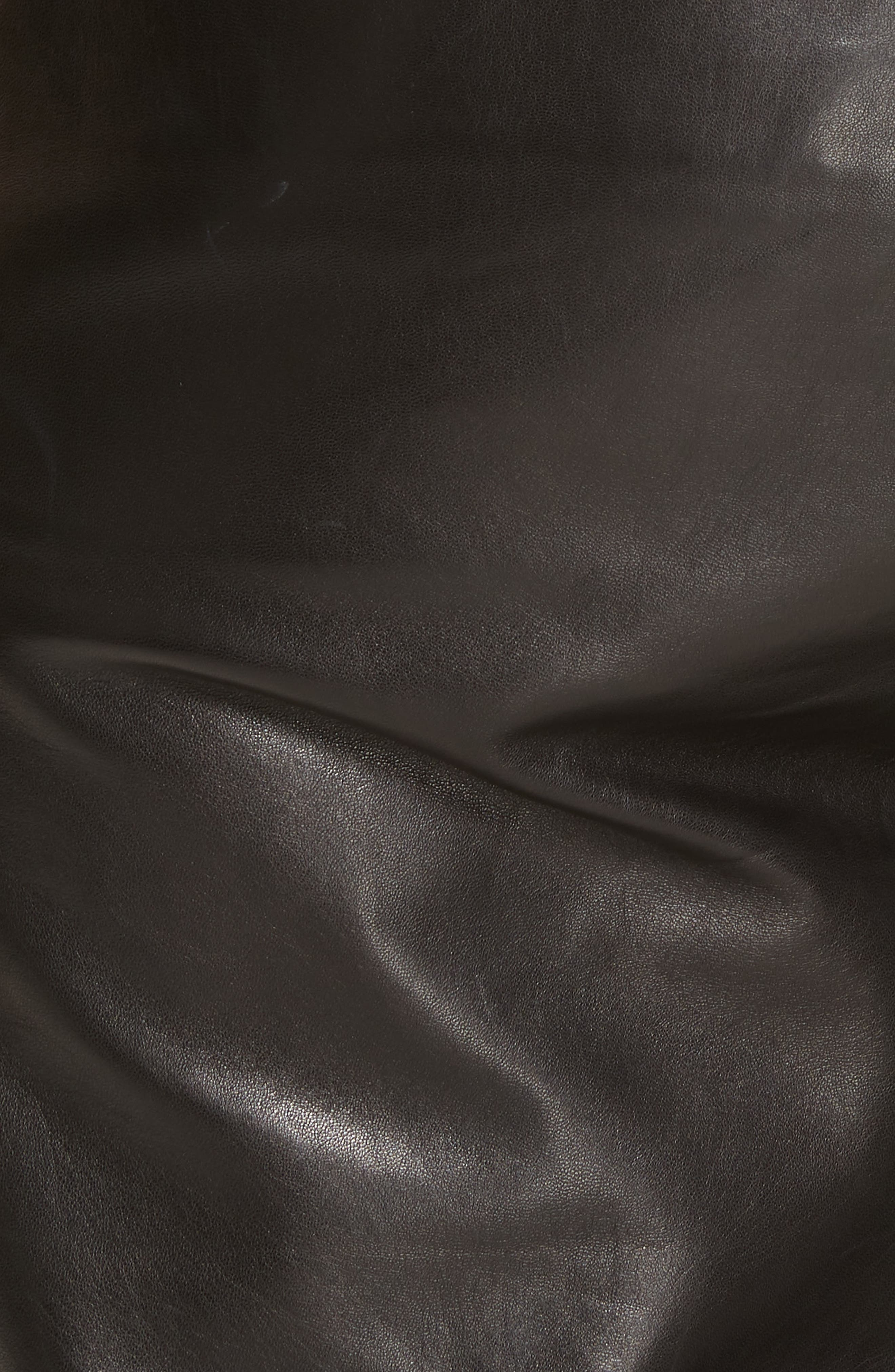 Faxon Leather Pants,                             Alternate thumbnail 5, color,                             BLACK