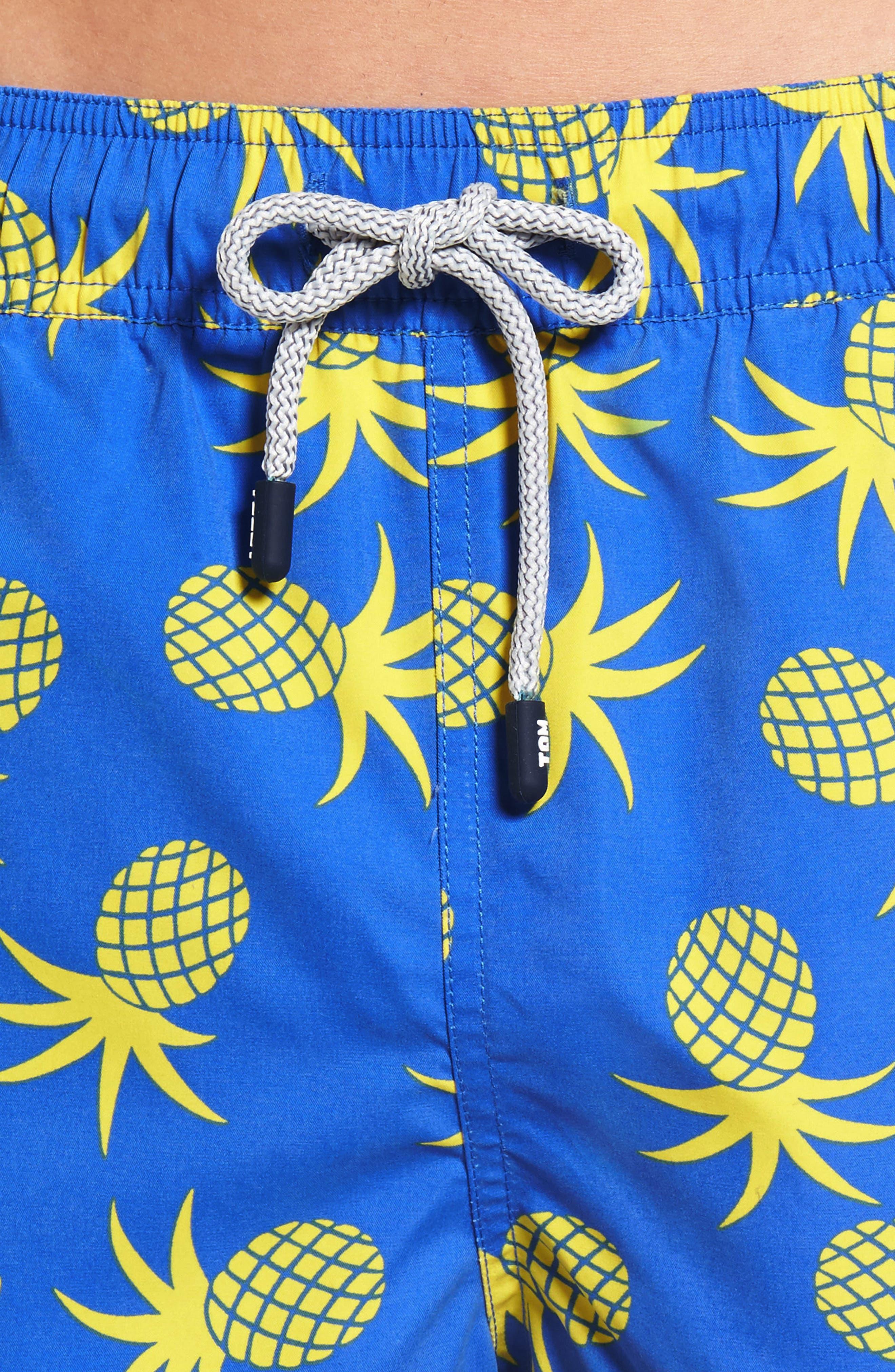 Pineapple Swim Trunks,                             Alternate thumbnail 4, color,                             430