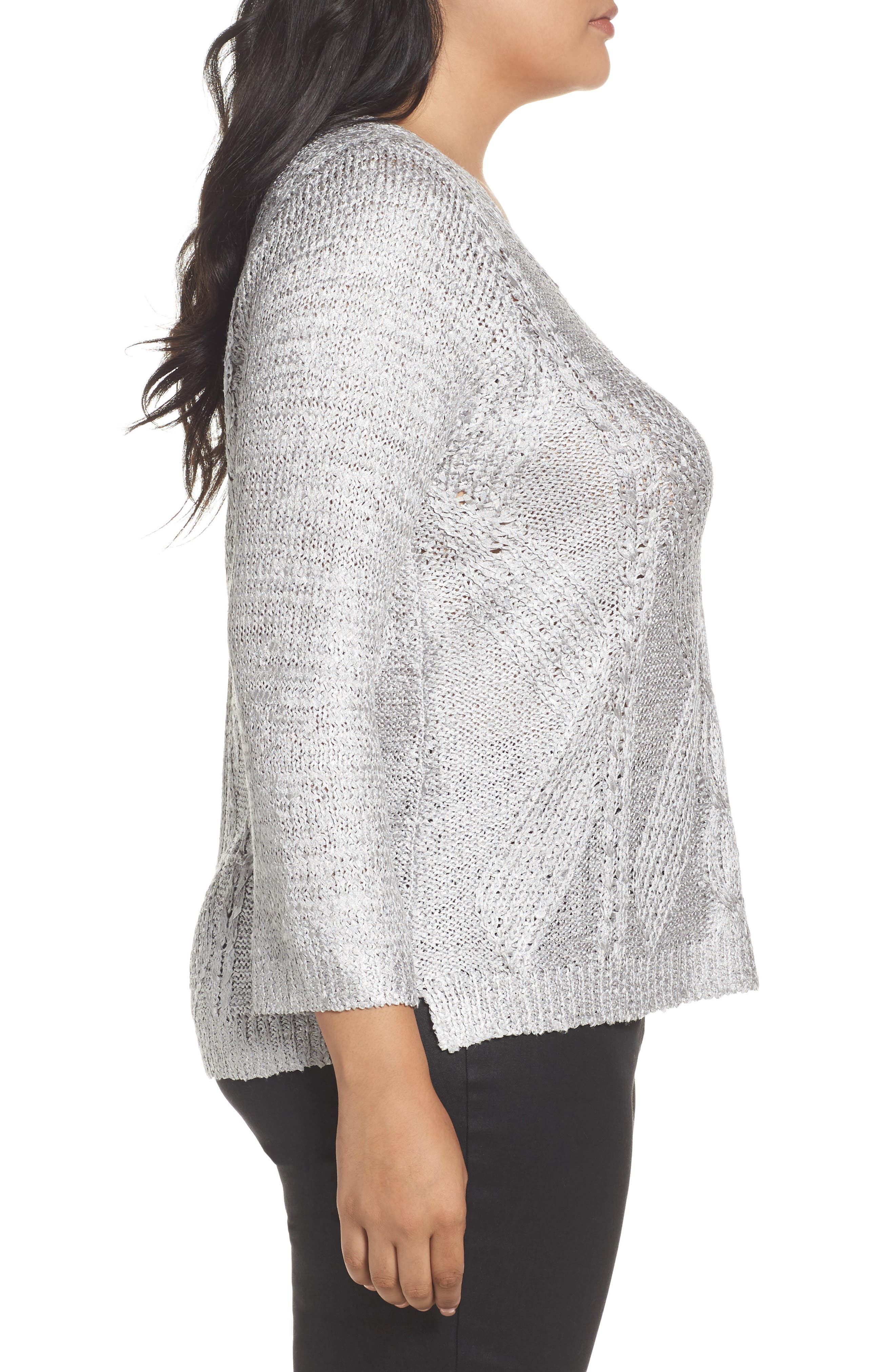 Cable Wave Sweater,                             Alternate thumbnail 5, color,