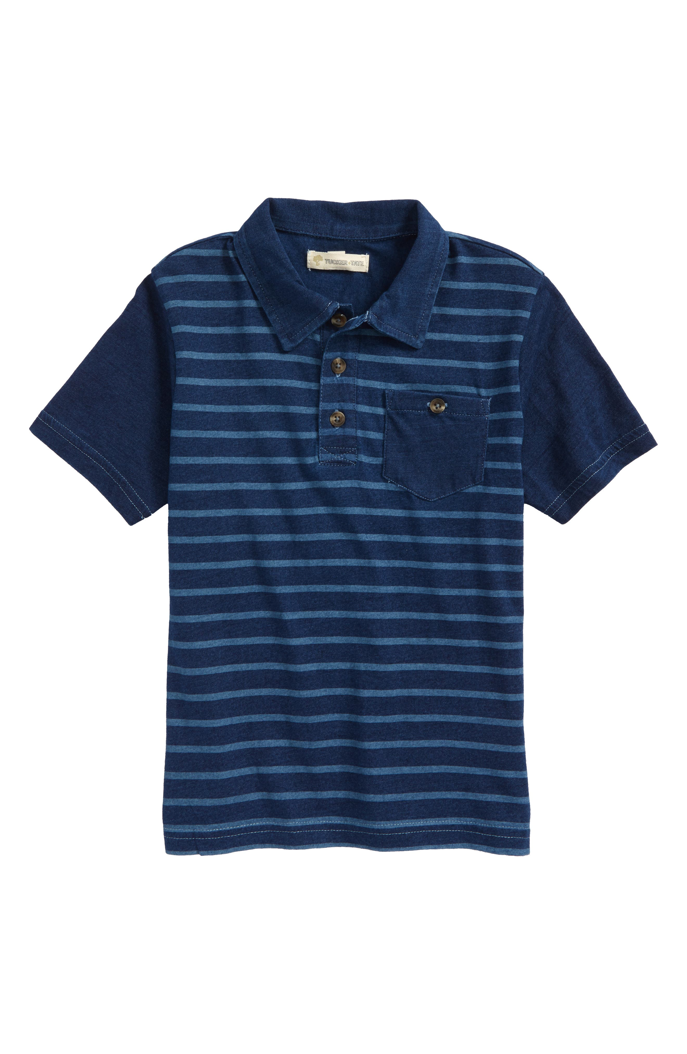 Stripe Polo,                         Main,                         color, 410