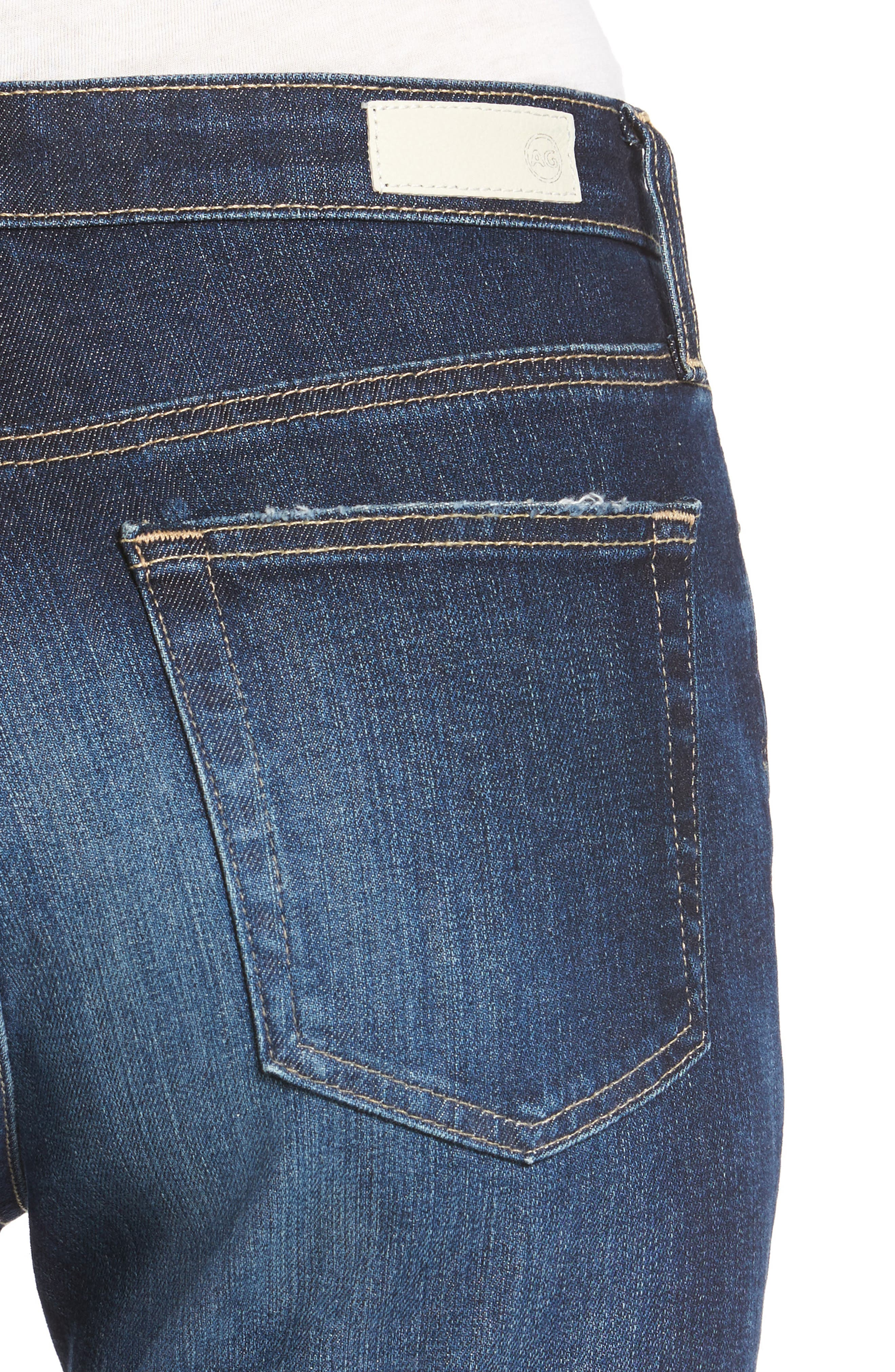 The Isabelle Crop Straight Leg Jeans,                             Alternate thumbnail 4, color,                             466