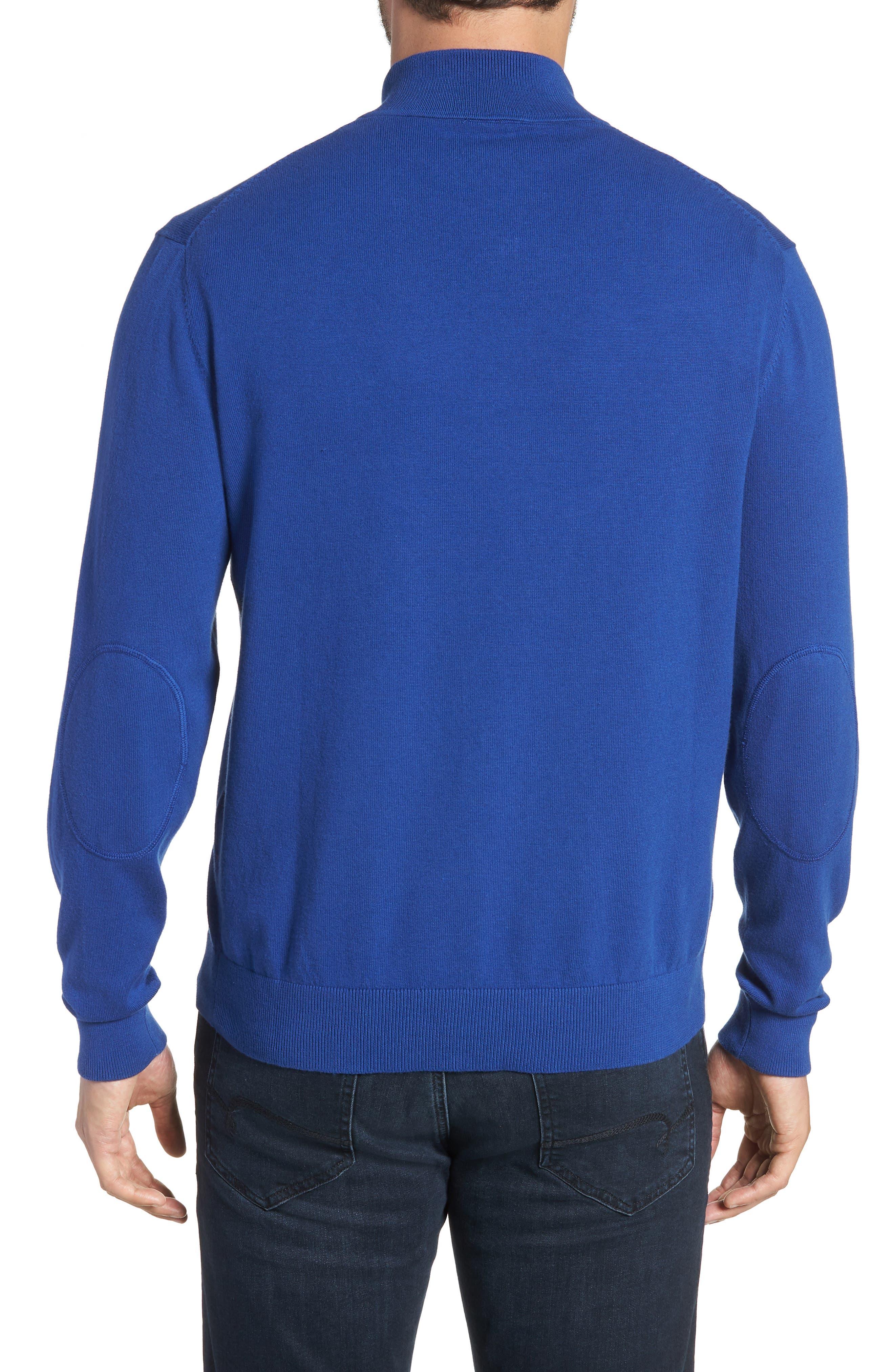Buffalo Bills - Lakemont Regular Fit Quarter Zip Sweater,                             Alternate thumbnail 2, color,                             TOUR BLUE