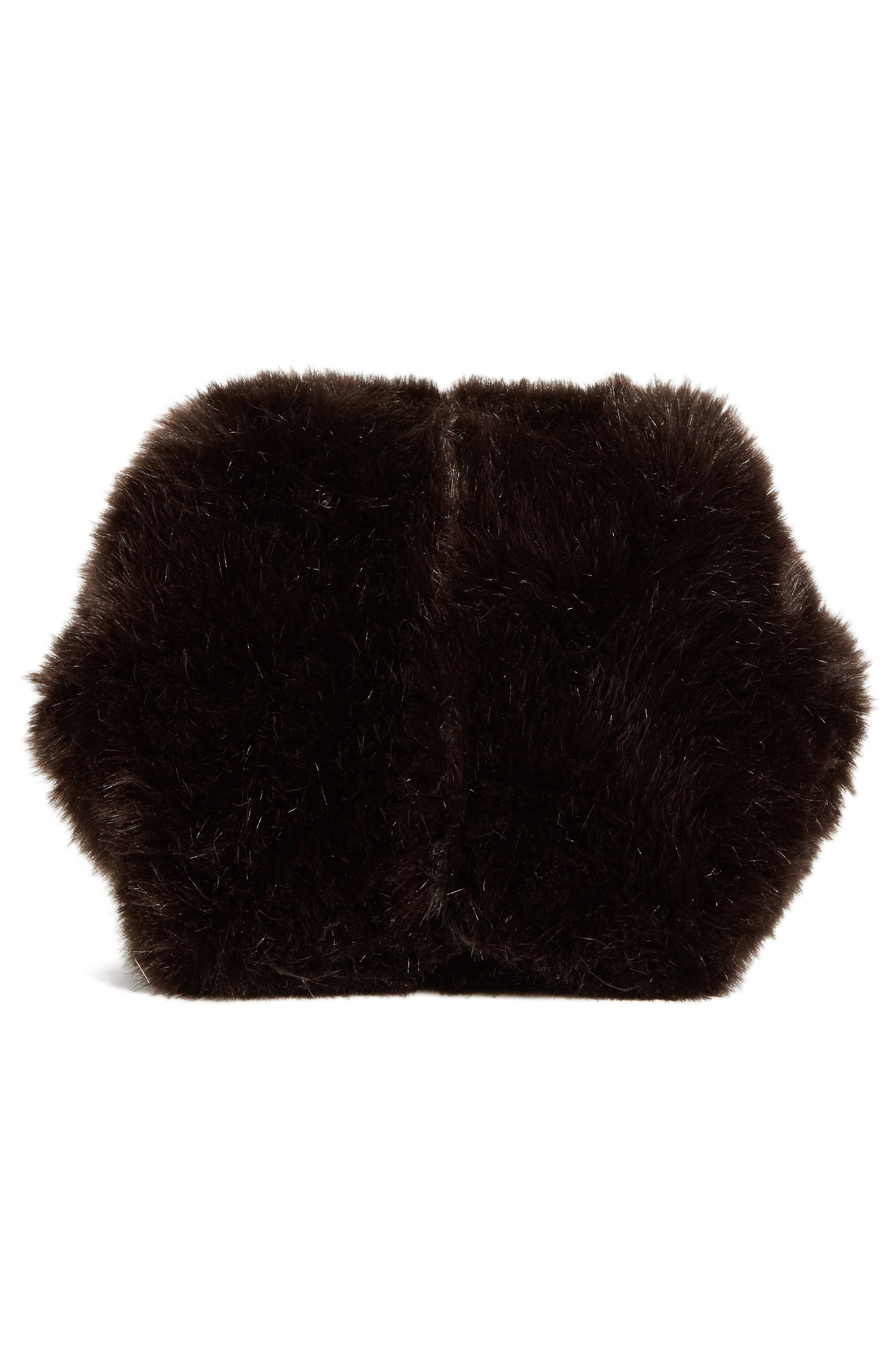 Tissue Pouch Faux Fur Bag,                             Alternate thumbnail 6, color,                             200