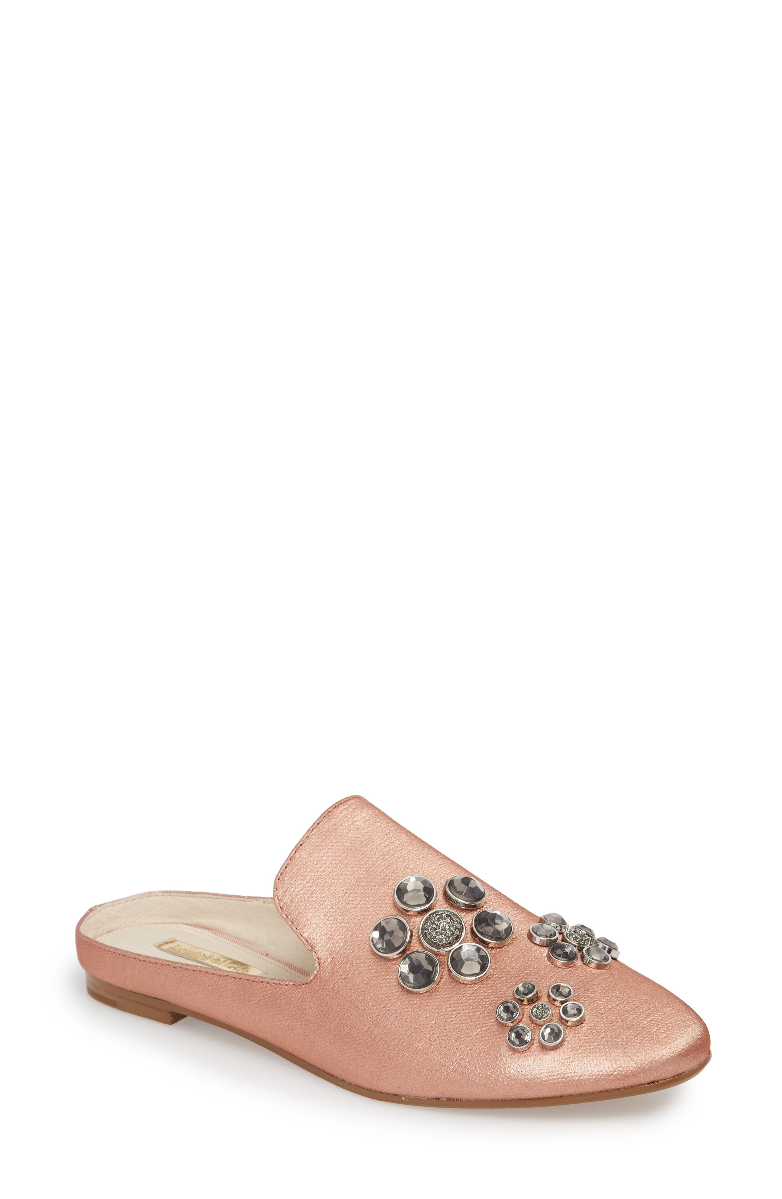 Felix II Crystal Flower Loafer Mule,                             Main thumbnail 4, color,