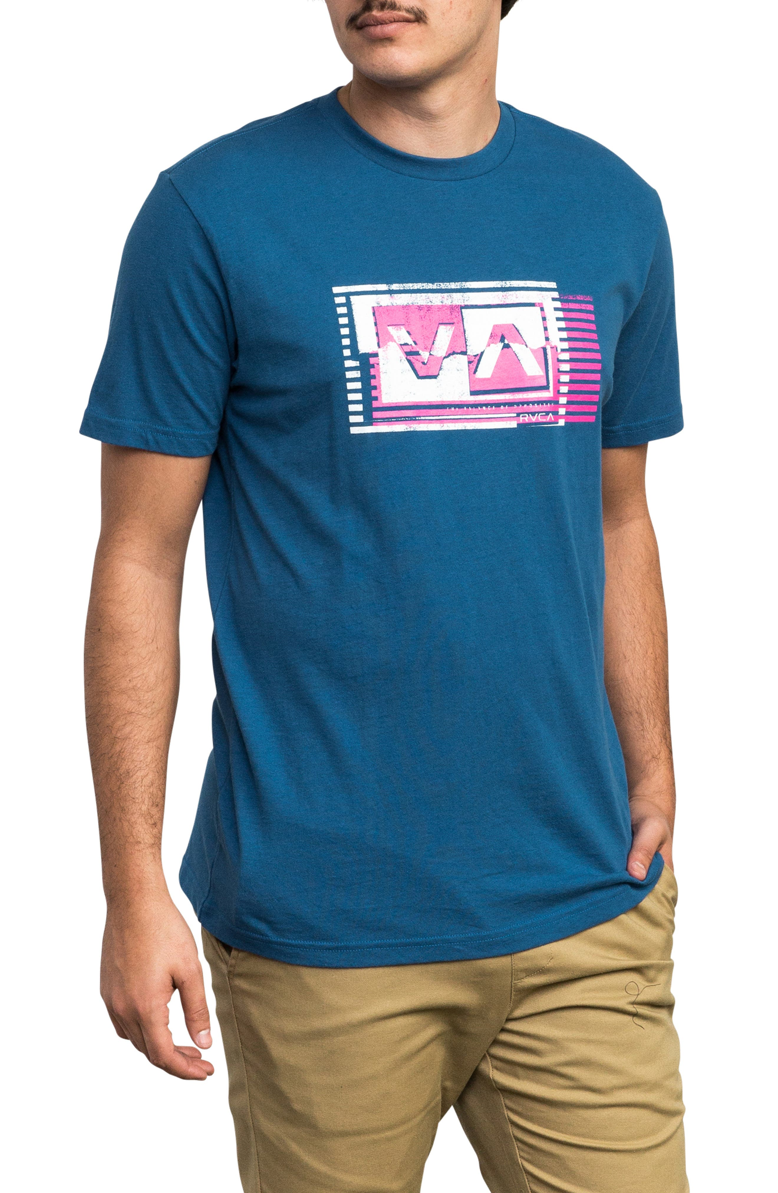 Copy Box Logo T-Shirt,                             Main thumbnail 1, color,                             BRIGHT BLUE