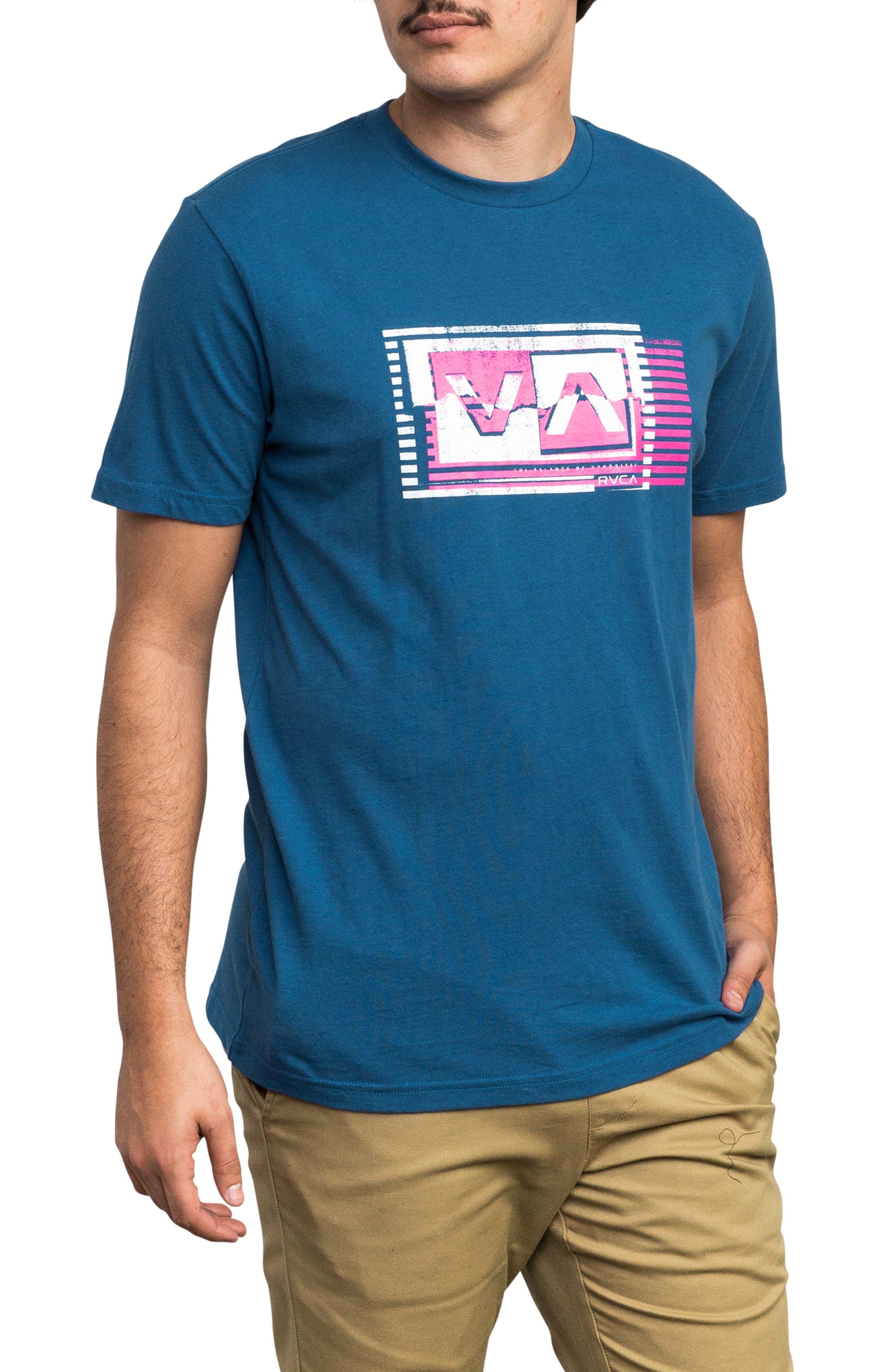 Copy Box Logo T-Shirt,                         Main,                         color, BRIGHT BLUE