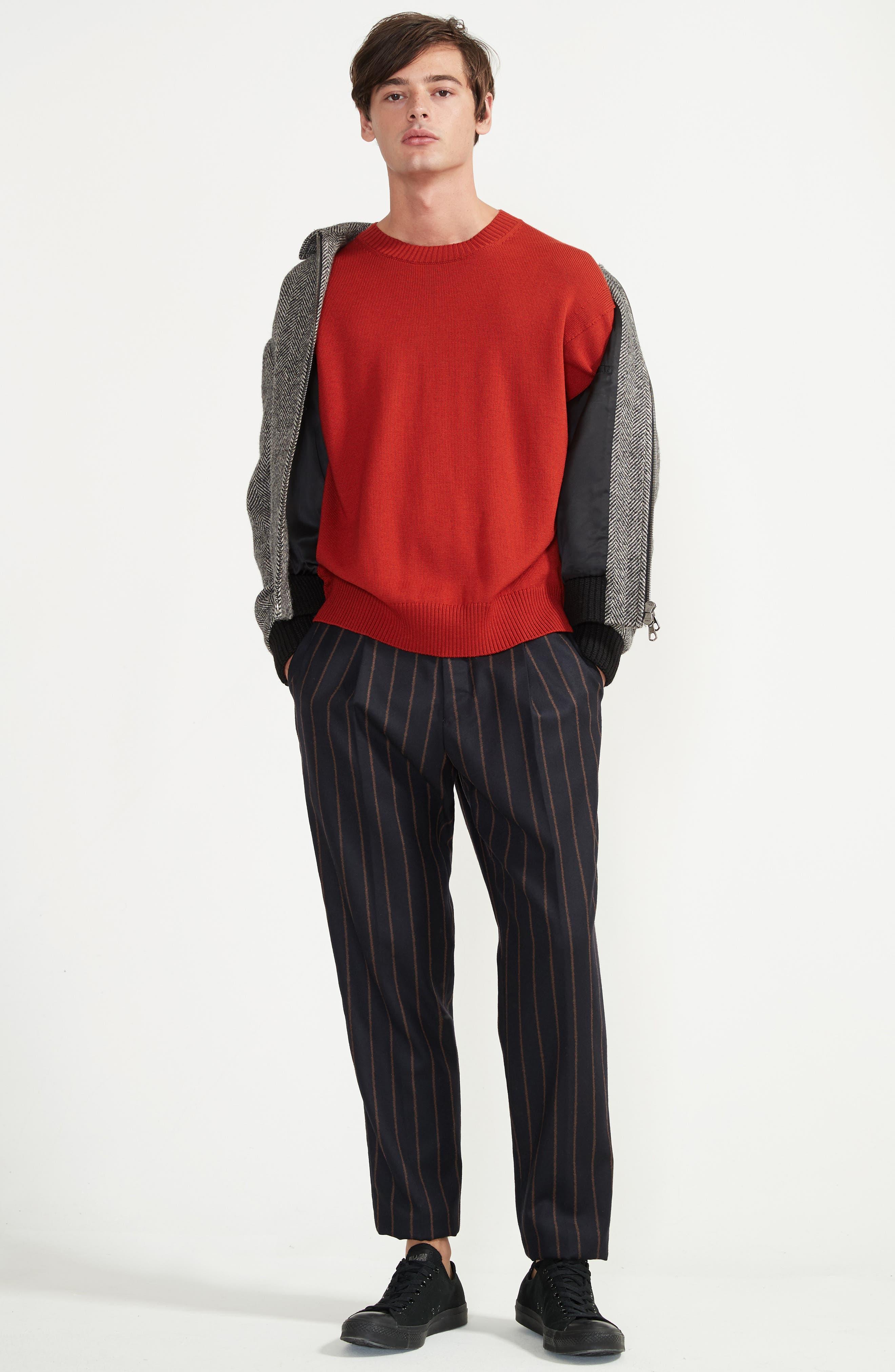 Bouclé Stripe Flannel Pants,                             Alternate thumbnail 6, color,                             400