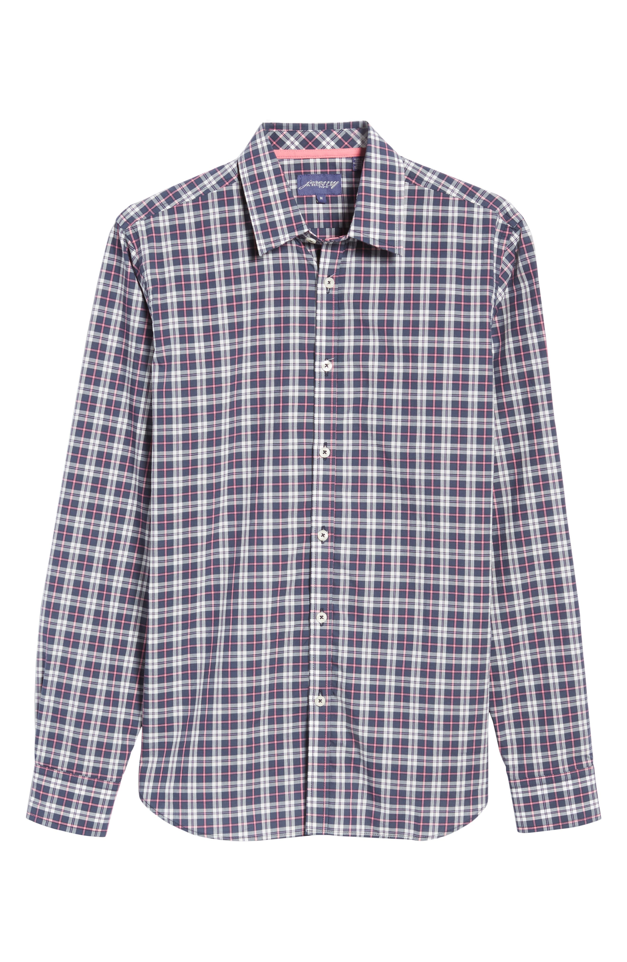 Slim Fit Plaid Sport Shirt,                             Alternate thumbnail 6, color,                             024
