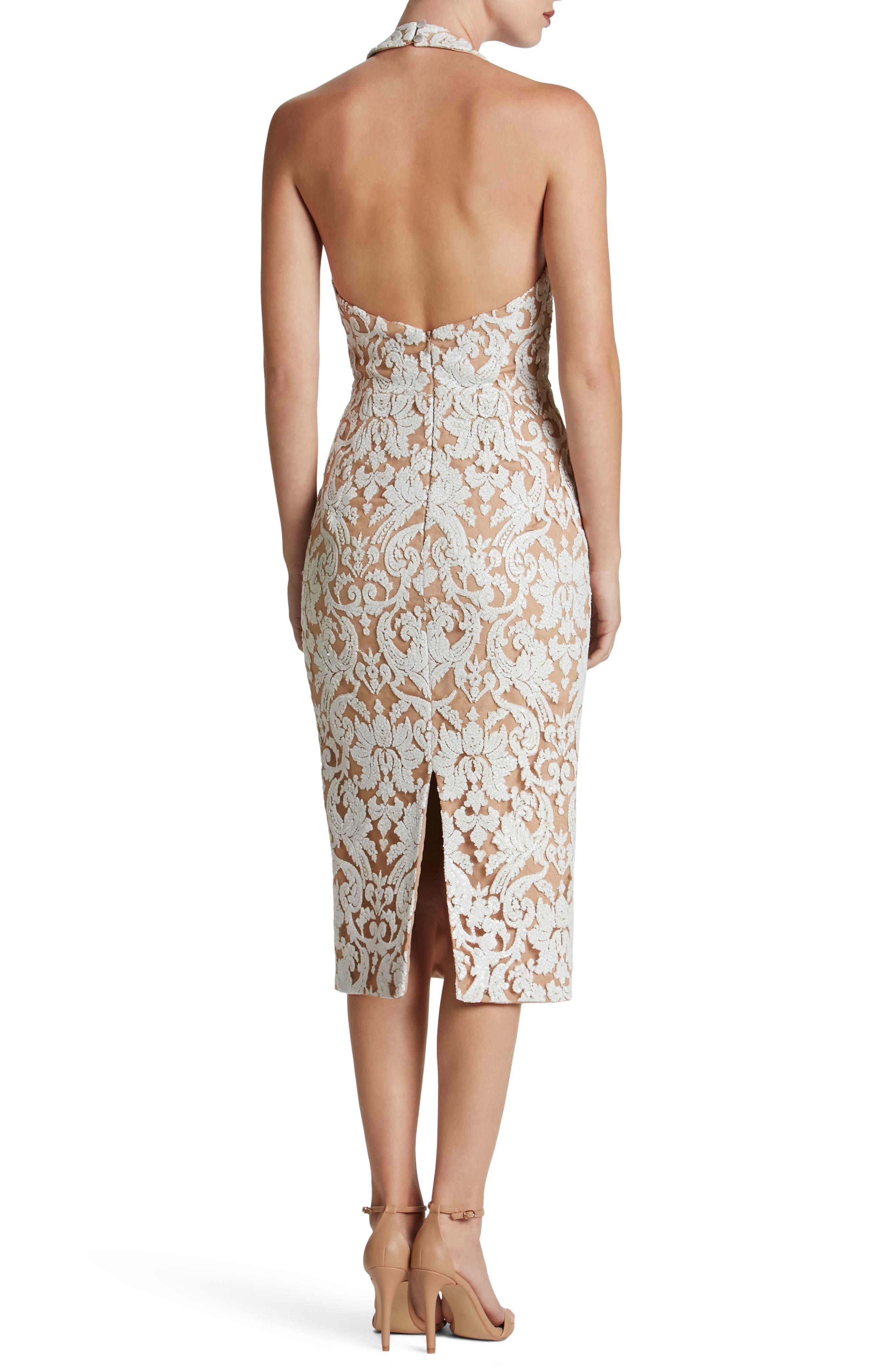 Cassie Sequin Midi Dress,                             Alternate thumbnail 10, color,