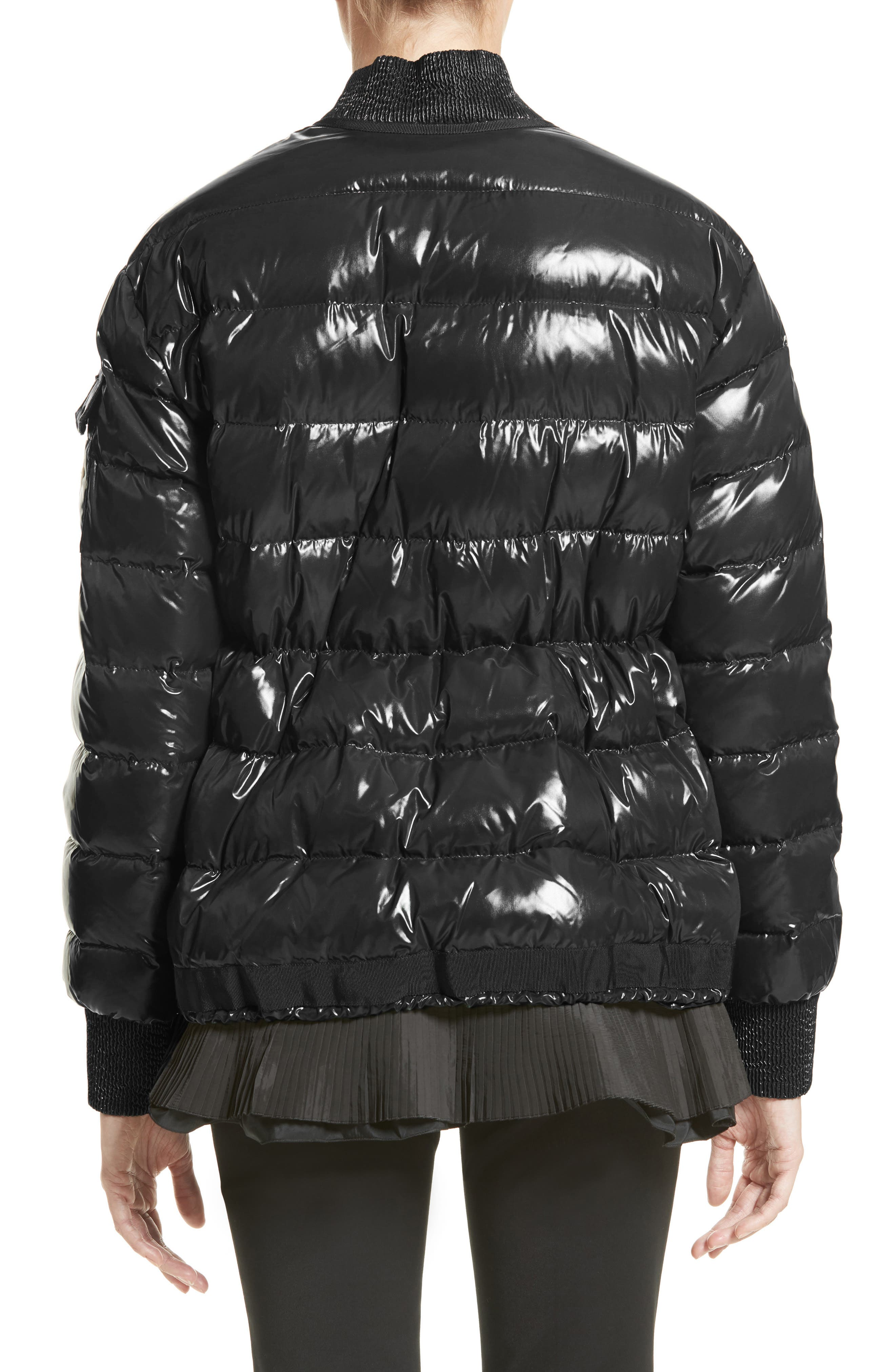 Lucy Peplum Down Puffer Jacket,                             Alternate thumbnail 2, color,                             001