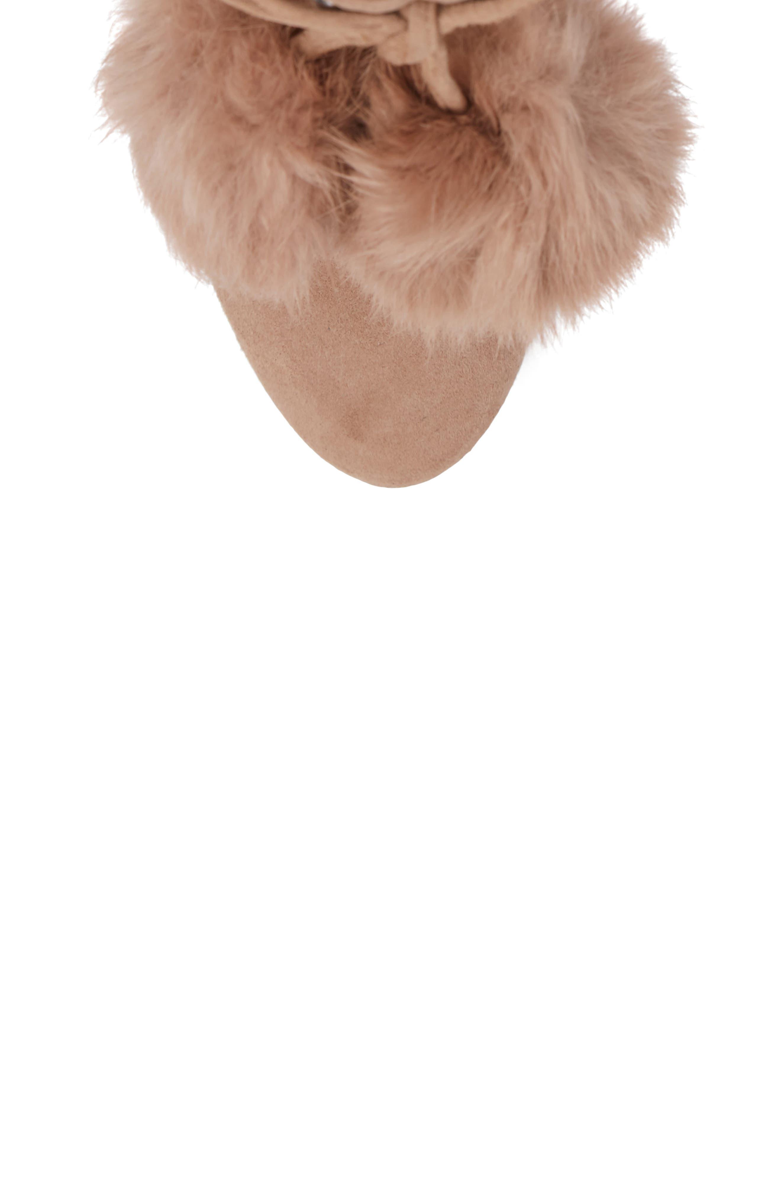 Remi Bootie with Genuine Rabbit Fur Pom,                             Alternate thumbnail 10, color,