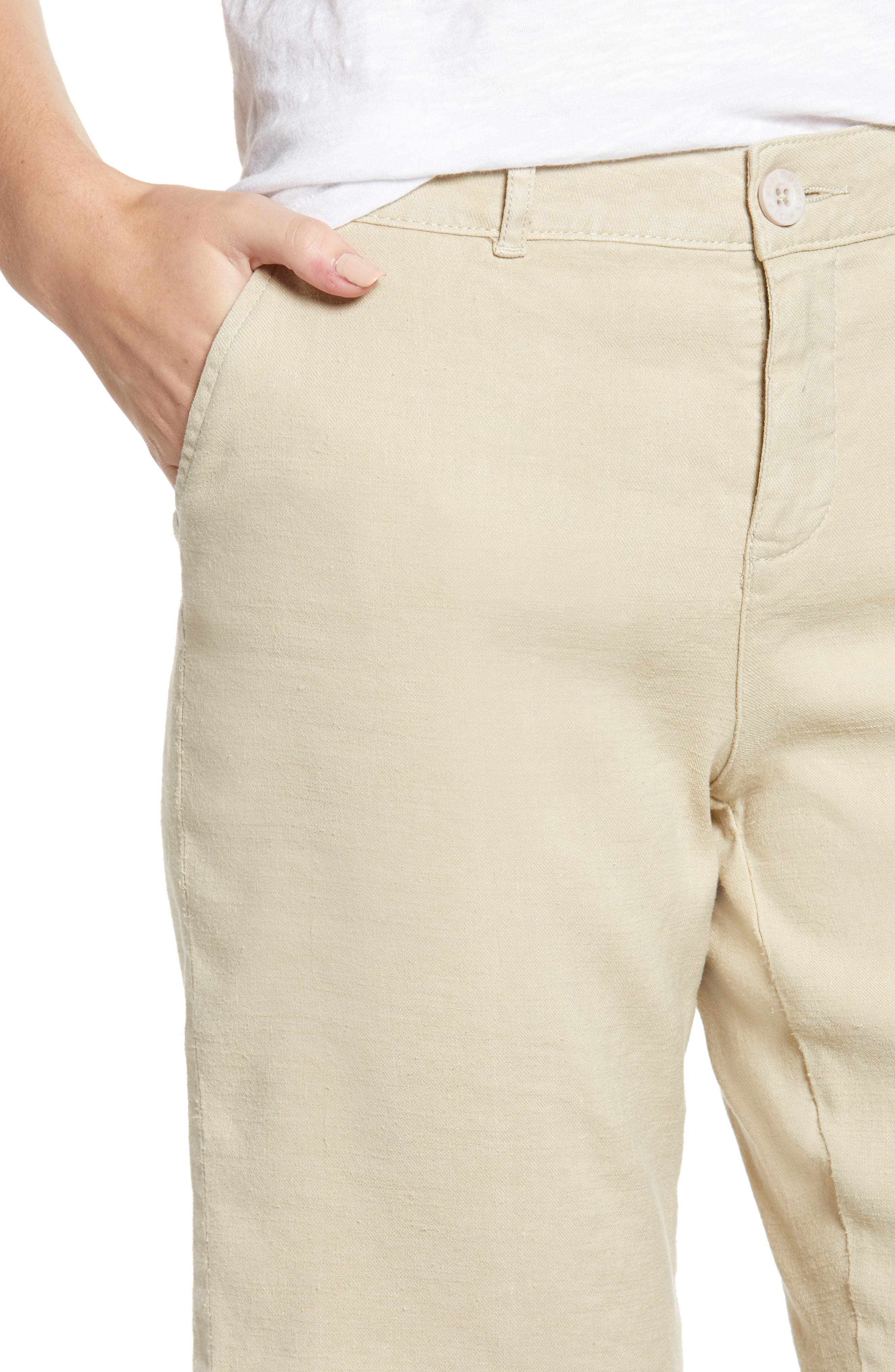 Stretch Linen Blend Bermuda Shorts,                             Alternate thumbnail 11, color,