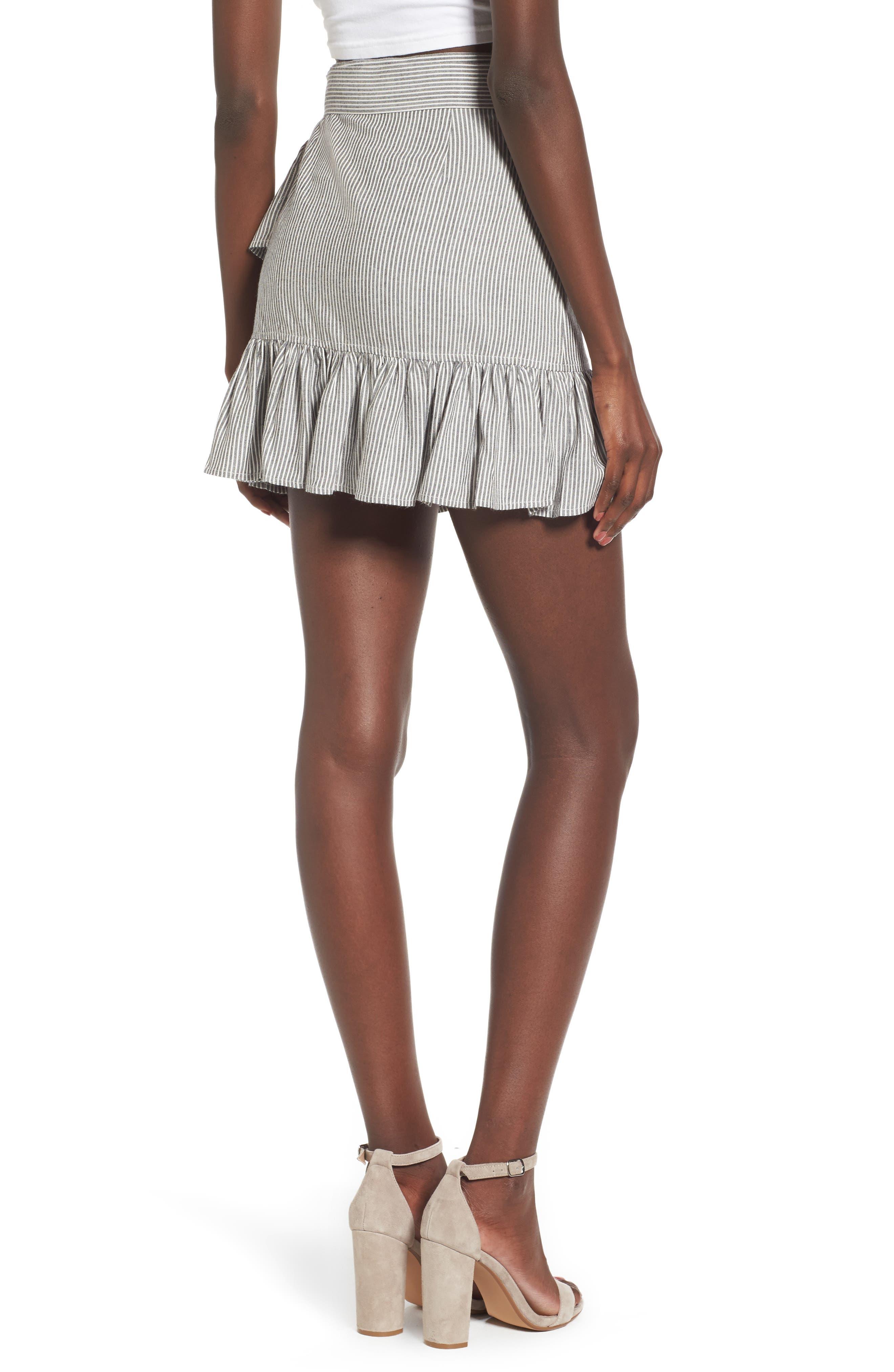 Vienna Ruffle Wrap Skirt,                             Alternate thumbnail 2, color,                             009
