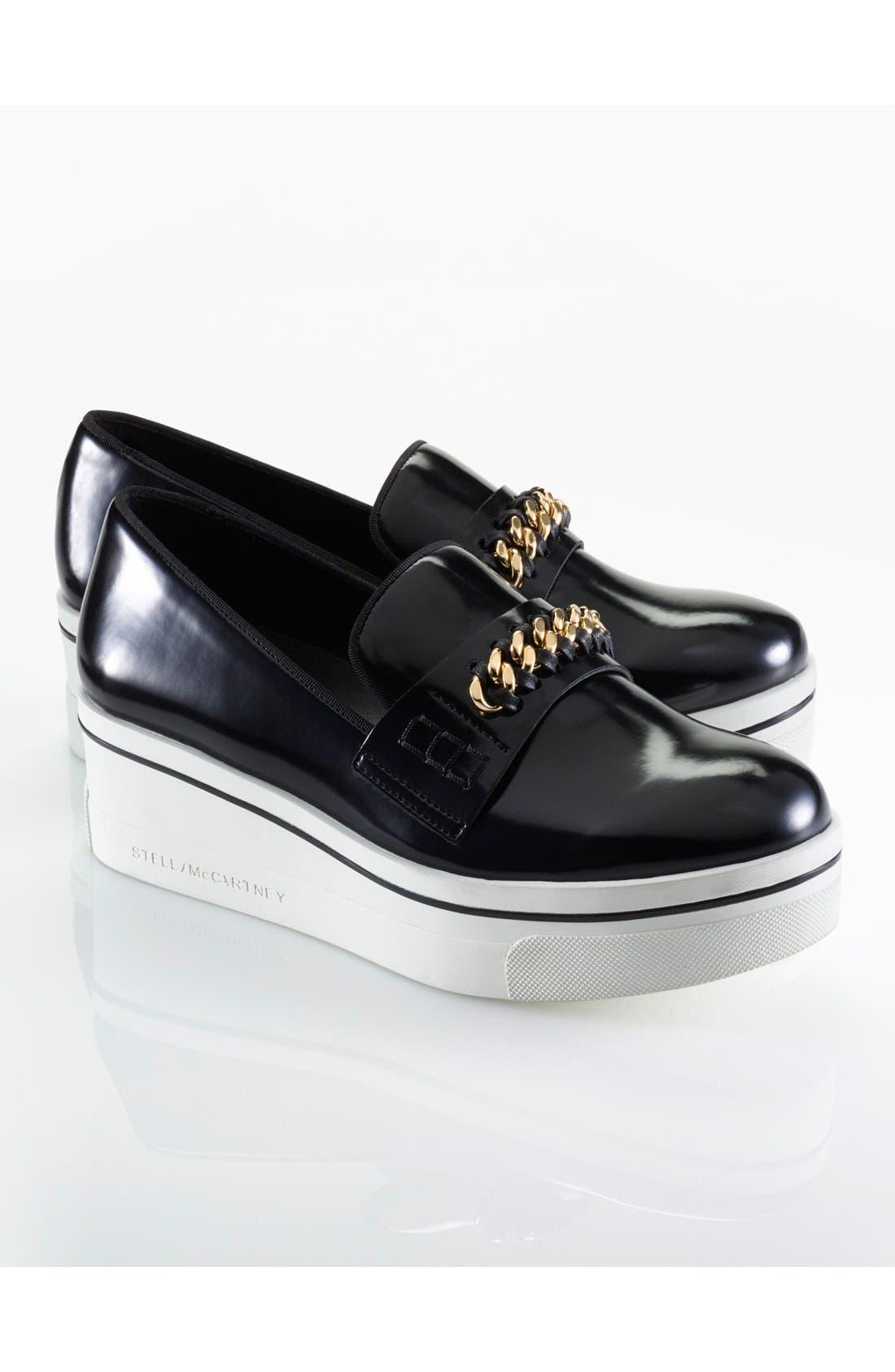 'Binx' Slip-On Platform Sneaker,                             Alternate thumbnail 5, color,                             001
