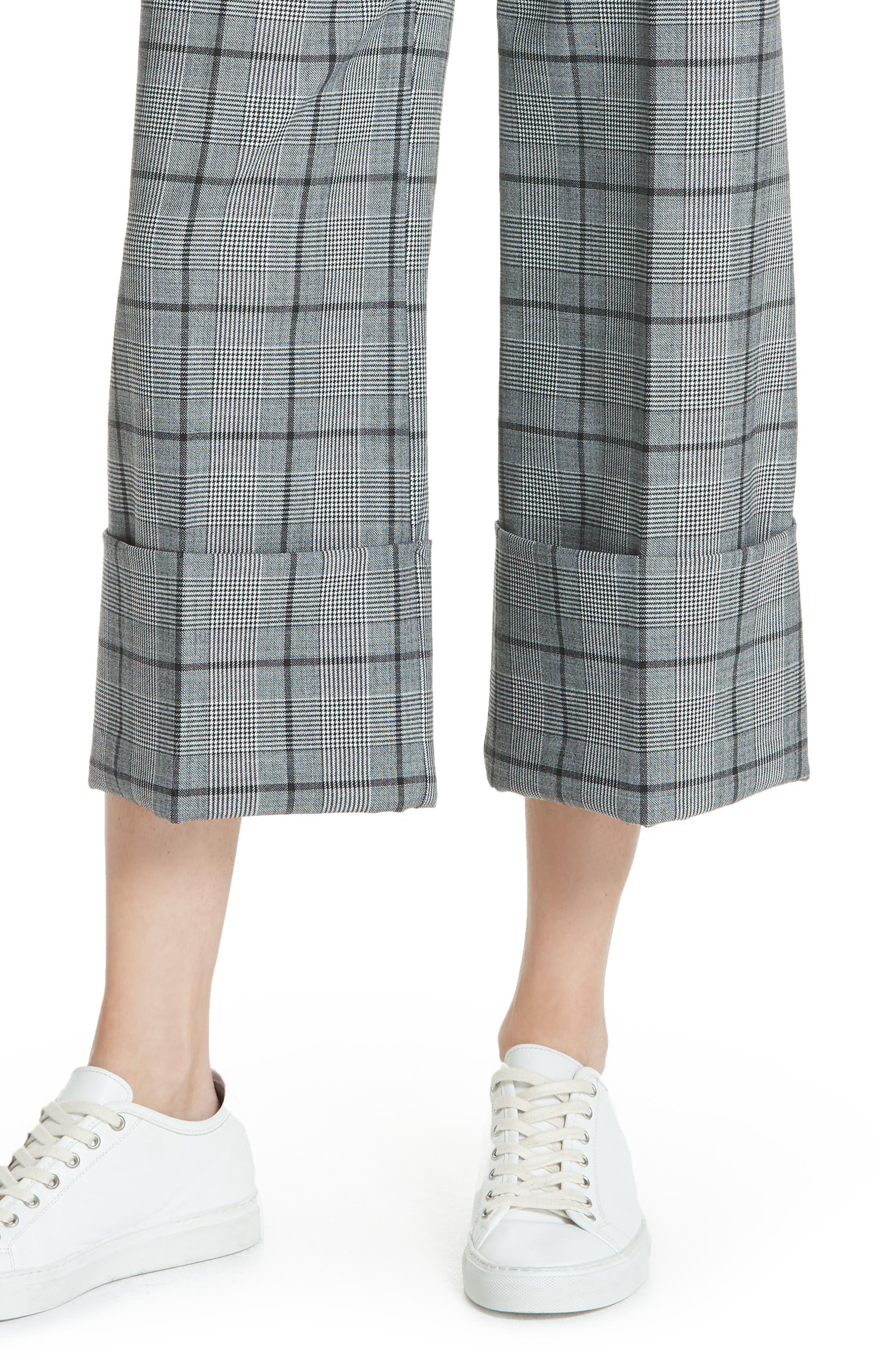 Bacall Cuff Crop Wide Leg Pants,                             Alternate thumbnail 4, color,                             028