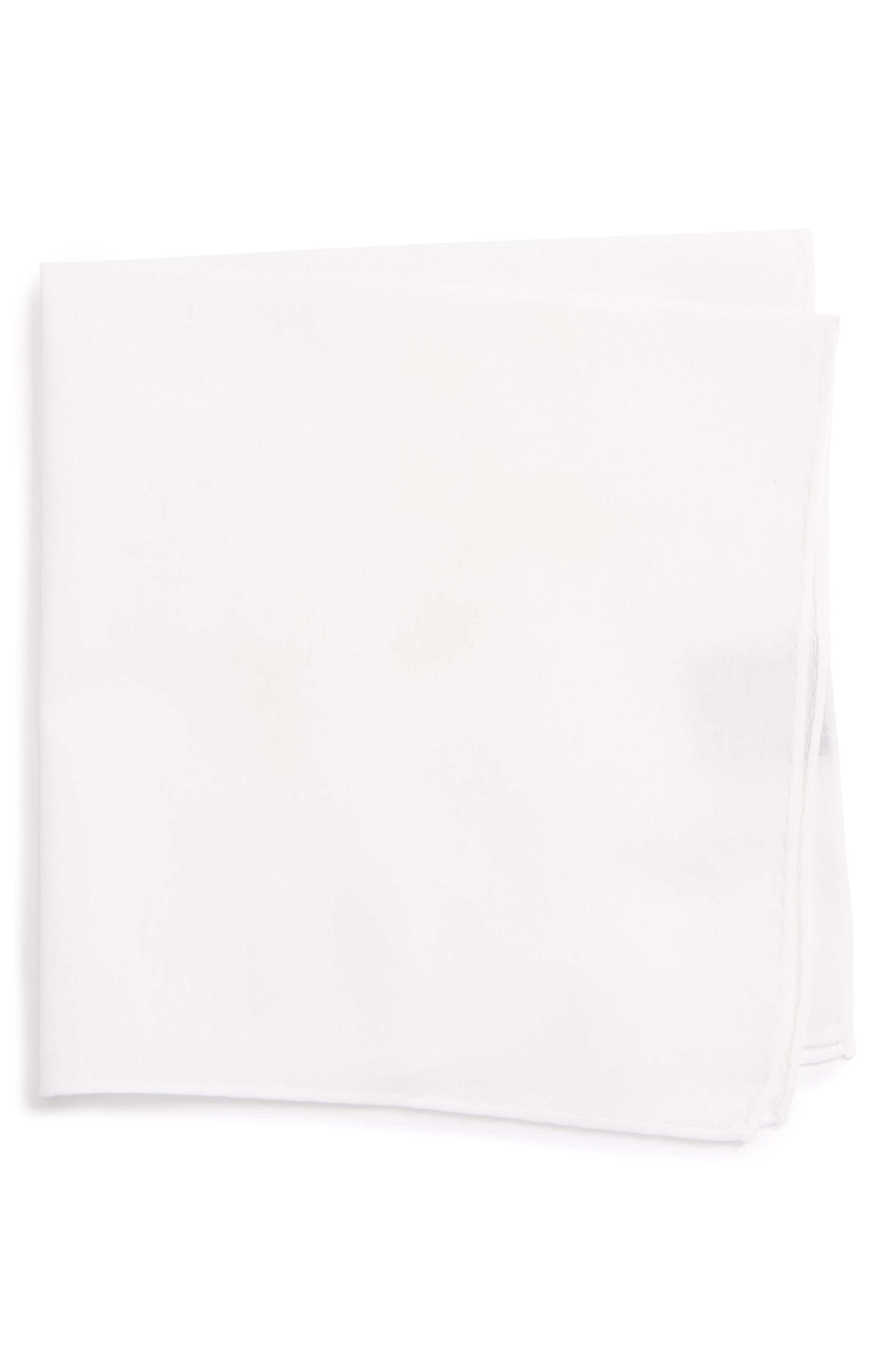 Solid Cotton & Silk Pocket Square,                             Main thumbnail 3, color,