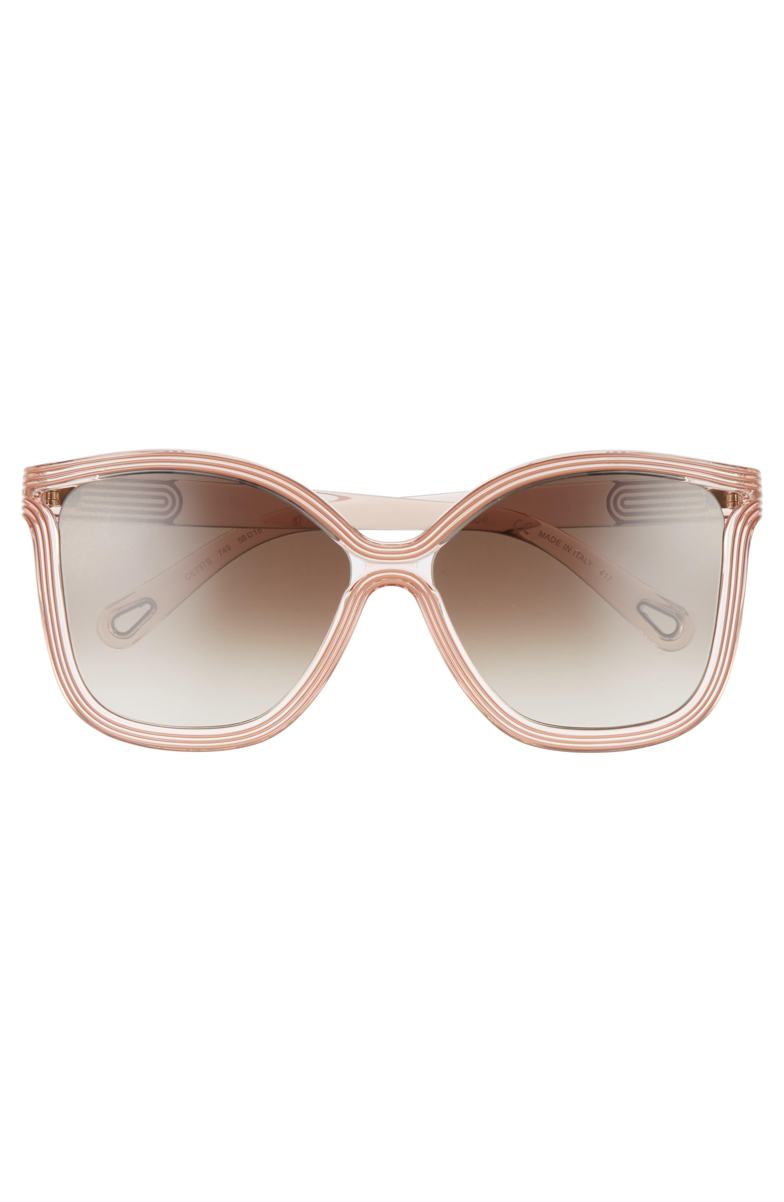Grooves 58mm Rectangular Sunglasses,                             Alternate thumbnail 12, color,