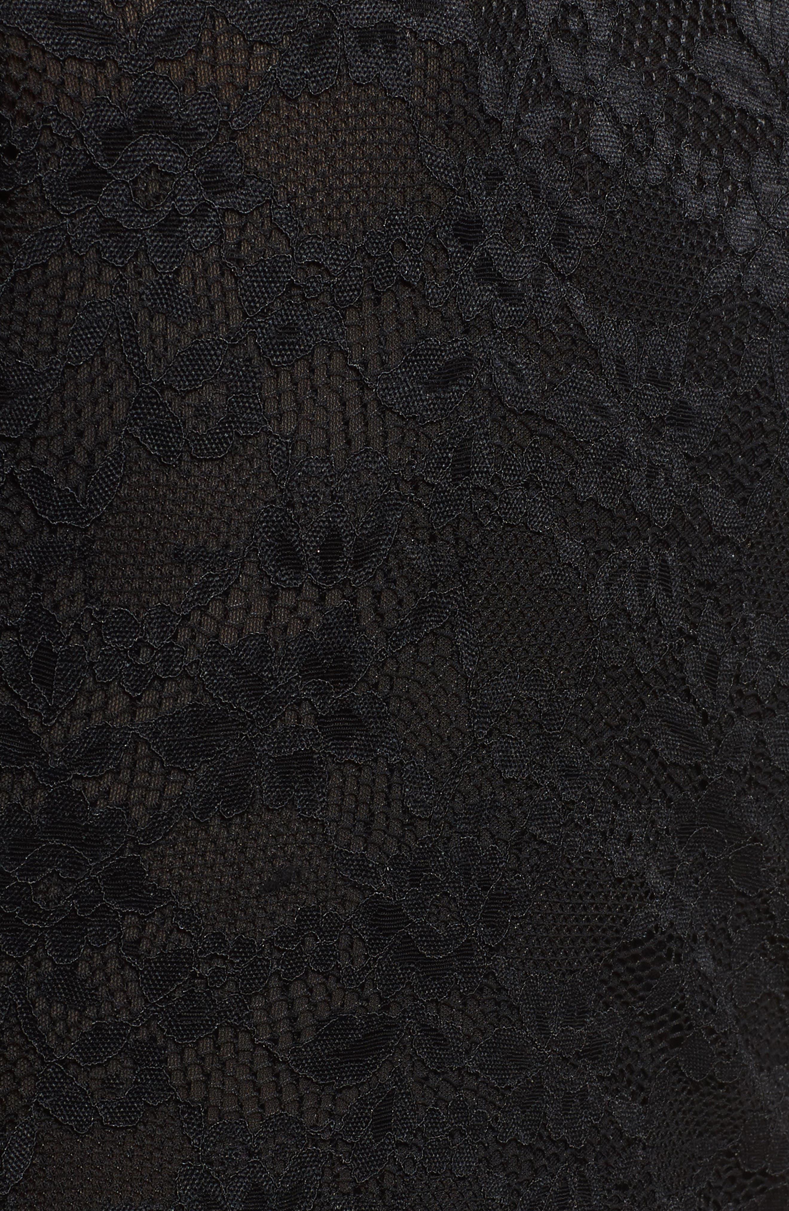 Hunter Lace-Up Bodysuit,                             Alternate thumbnail 5, color,                             001
