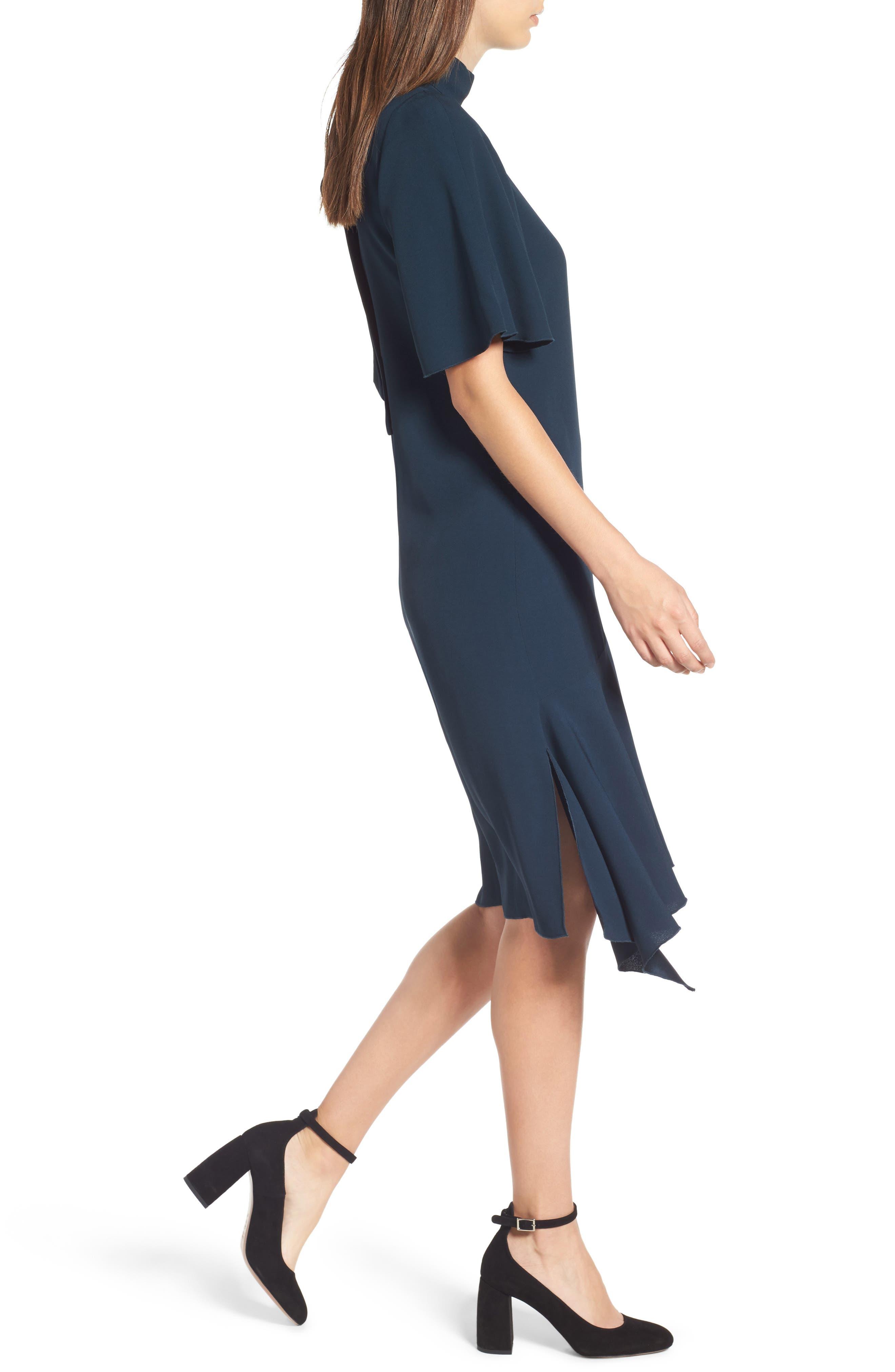 Tie Back Cady Dress,                             Alternate thumbnail 4, color,                             301