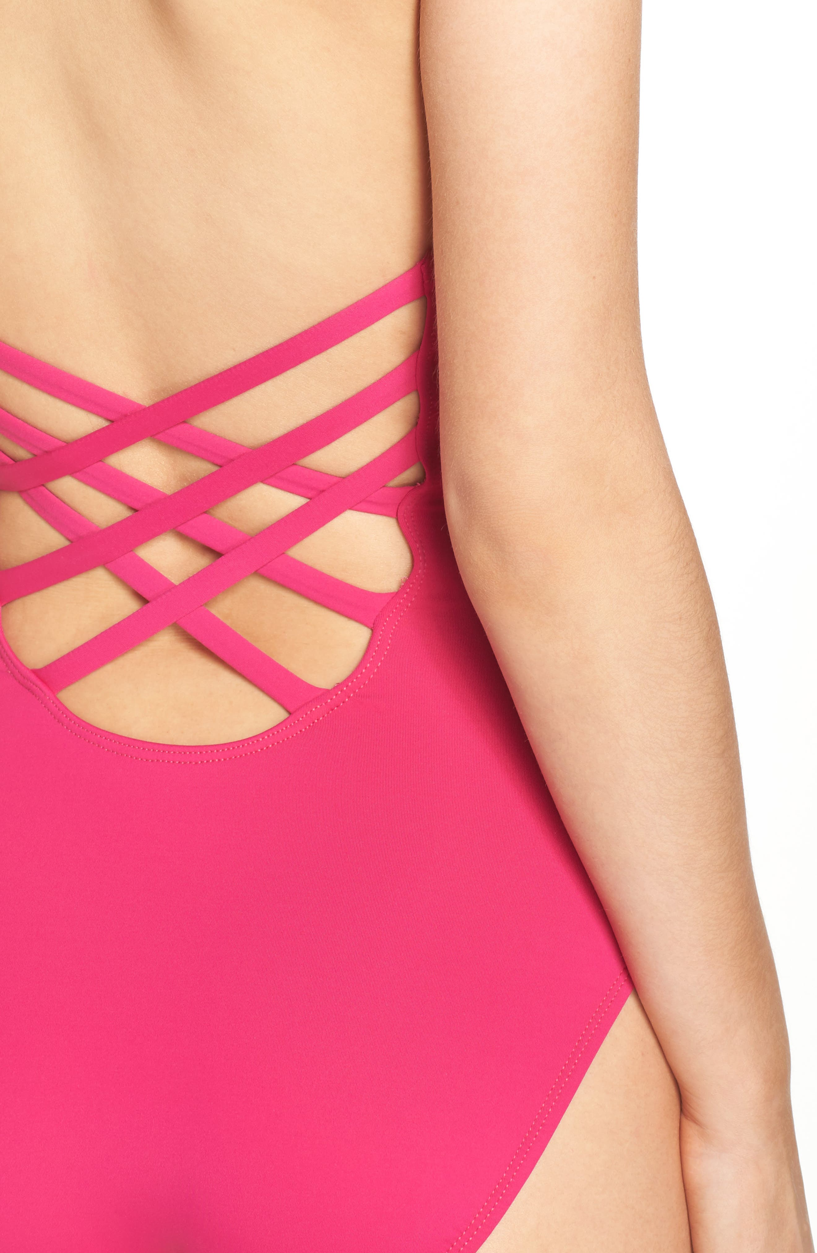 Caged Strap One-Piece Swimsuit,                             Alternate thumbnail 38, color,